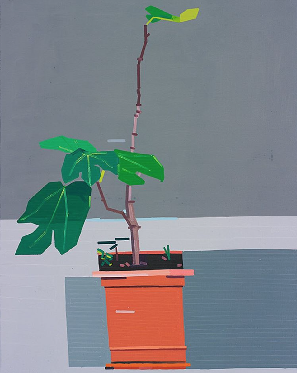 I am fascinated by the paintings of Guy Yanai. His linear brushstrokes have such precision & his colour combinations are not on my typical go to list. His collection of mid century homes are beautiful, complete with sprinklers! Check out his work at  www.guy-yanai.com