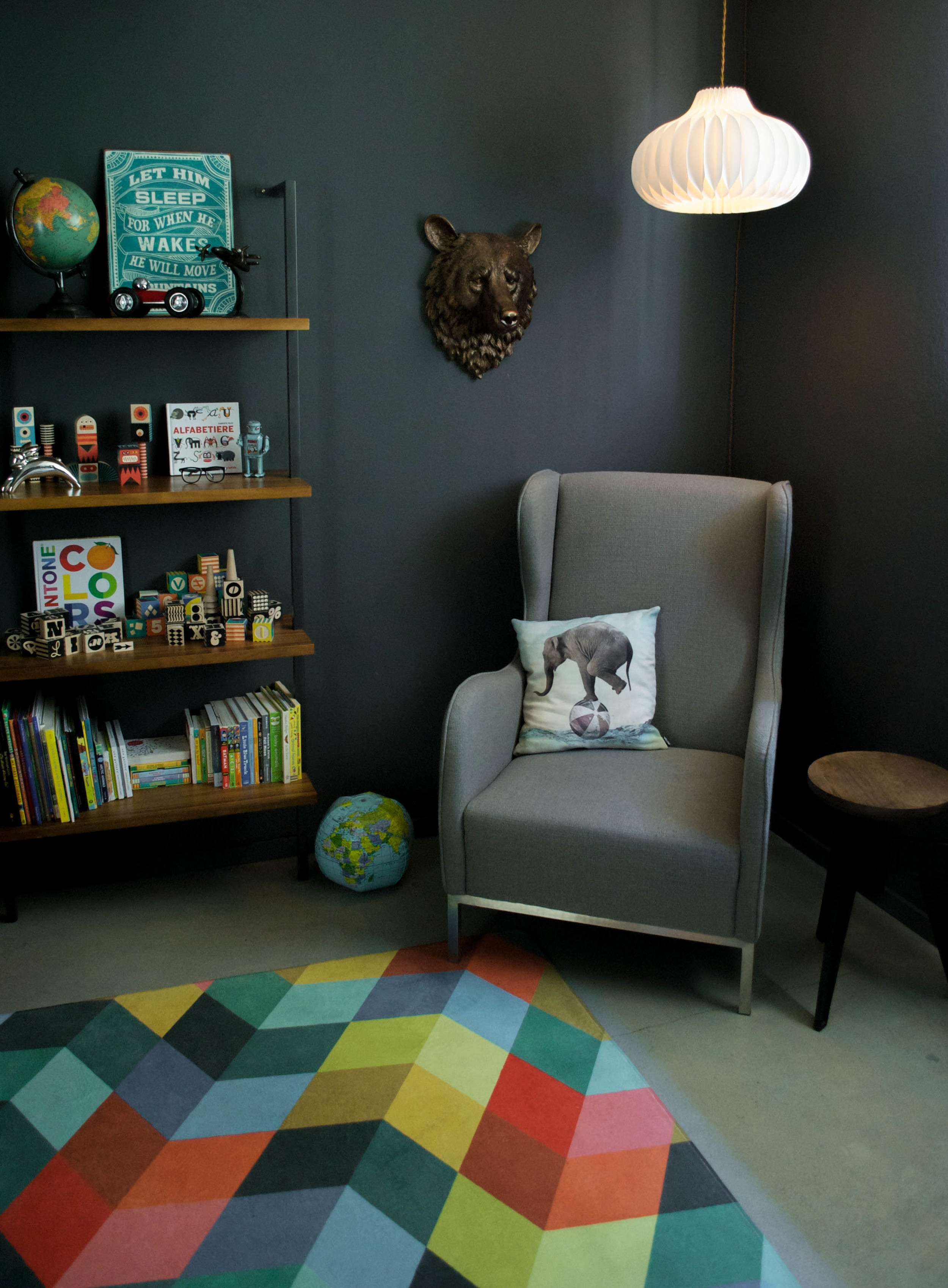 A great chair to curl up and read a bedtime story.