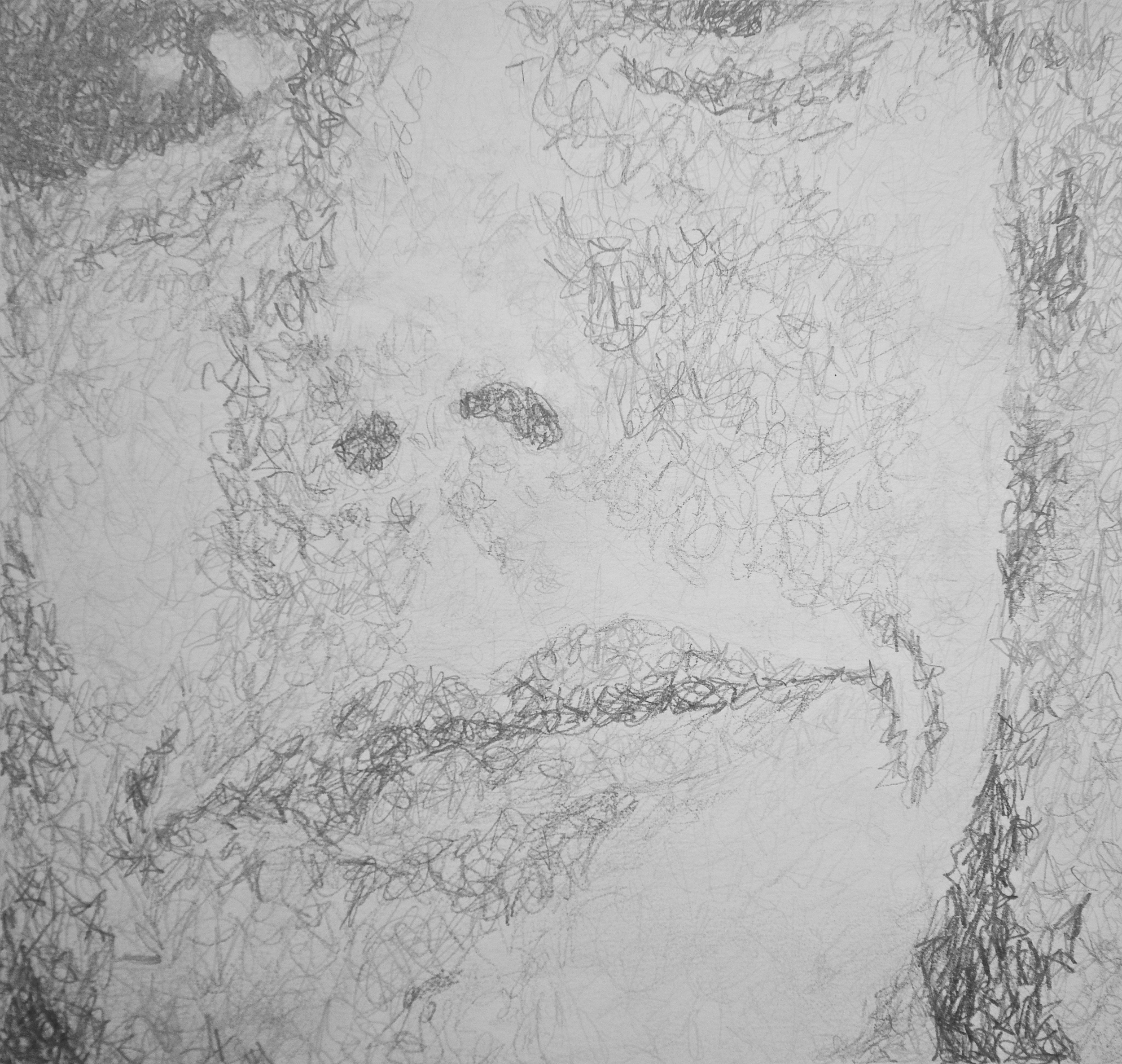 A close up of the crosshatching I used to vary the shades of pencil.