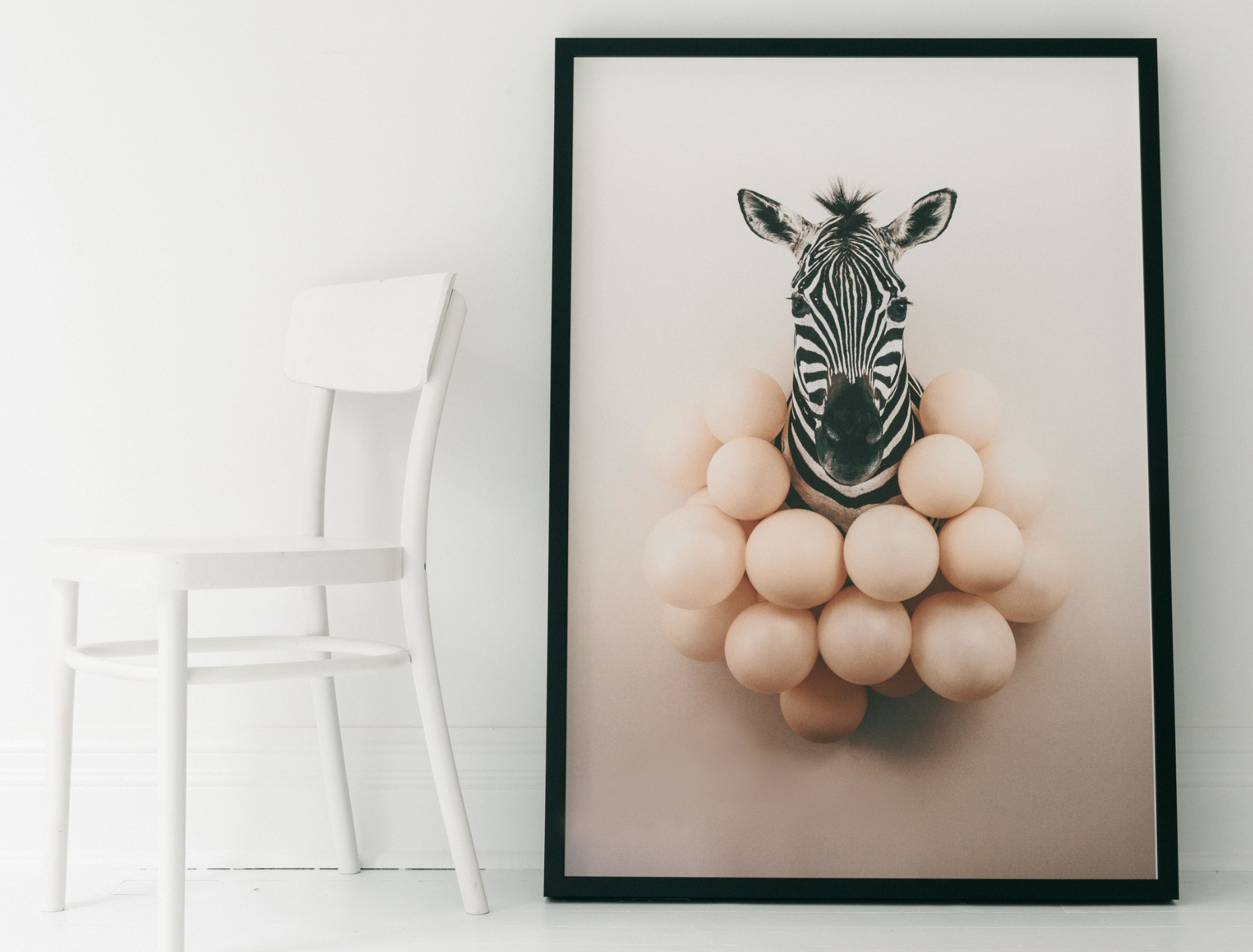 """I've already decided the theme of my second series and animals will be featured. I have an amazing photograph of Zebras I'm excited to play around with. It seems Zebras are a fun subject matter for several artists as I see them everywhere now. Artist Anna Church has done this piece """"Party Animal"""" above and has several other stunning prints on her website. You should check her out,she is currently living in Toronto. http://annachurchart.com"""