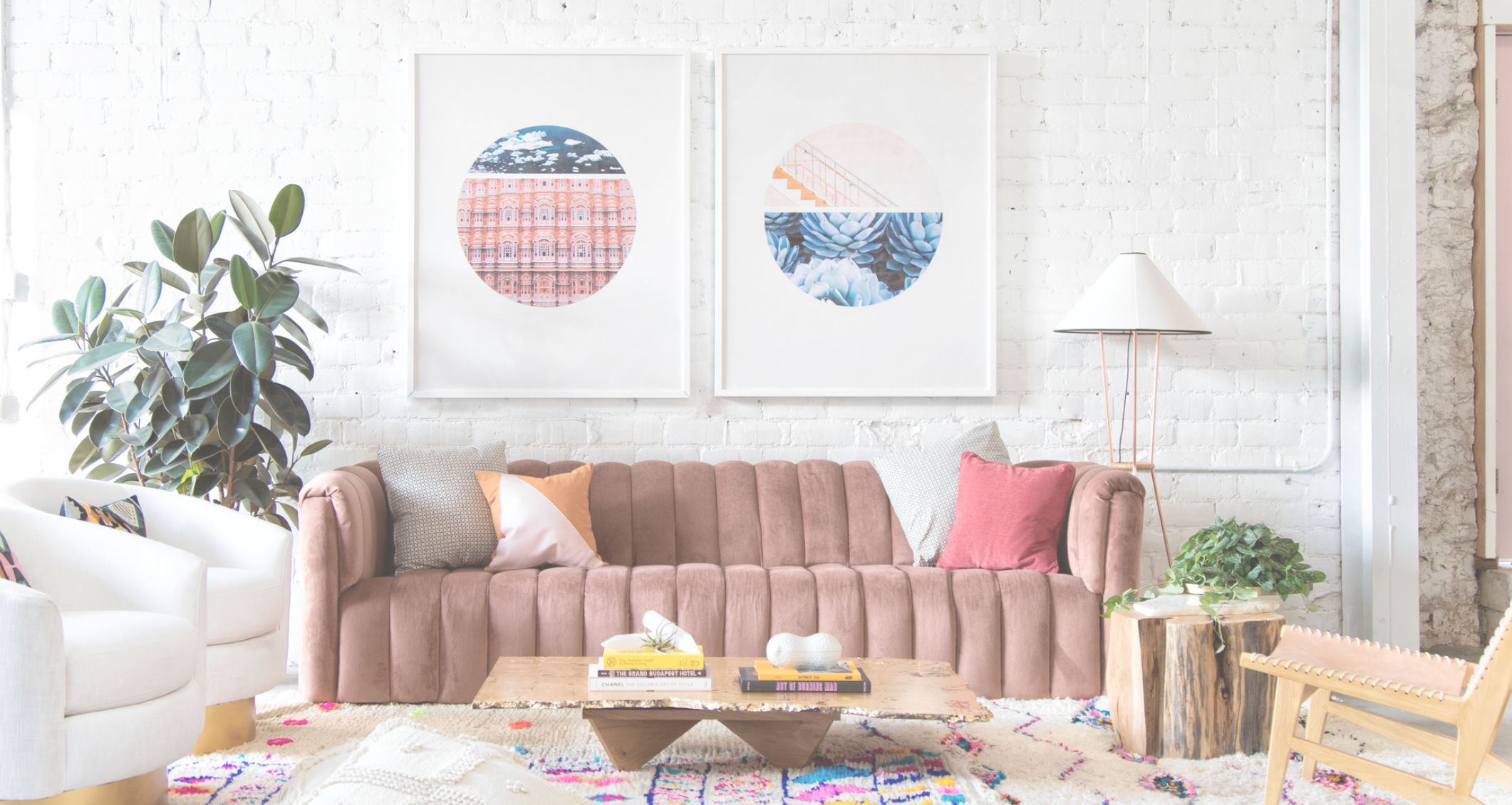 Design Sponge has a full studio tour of Light Lab online, it is a must see! This seating area is gorgeous.I want to pretend it's my house, I love it that much. http://www.designsponge.com/2016/08/studio-tour-light-lab.html