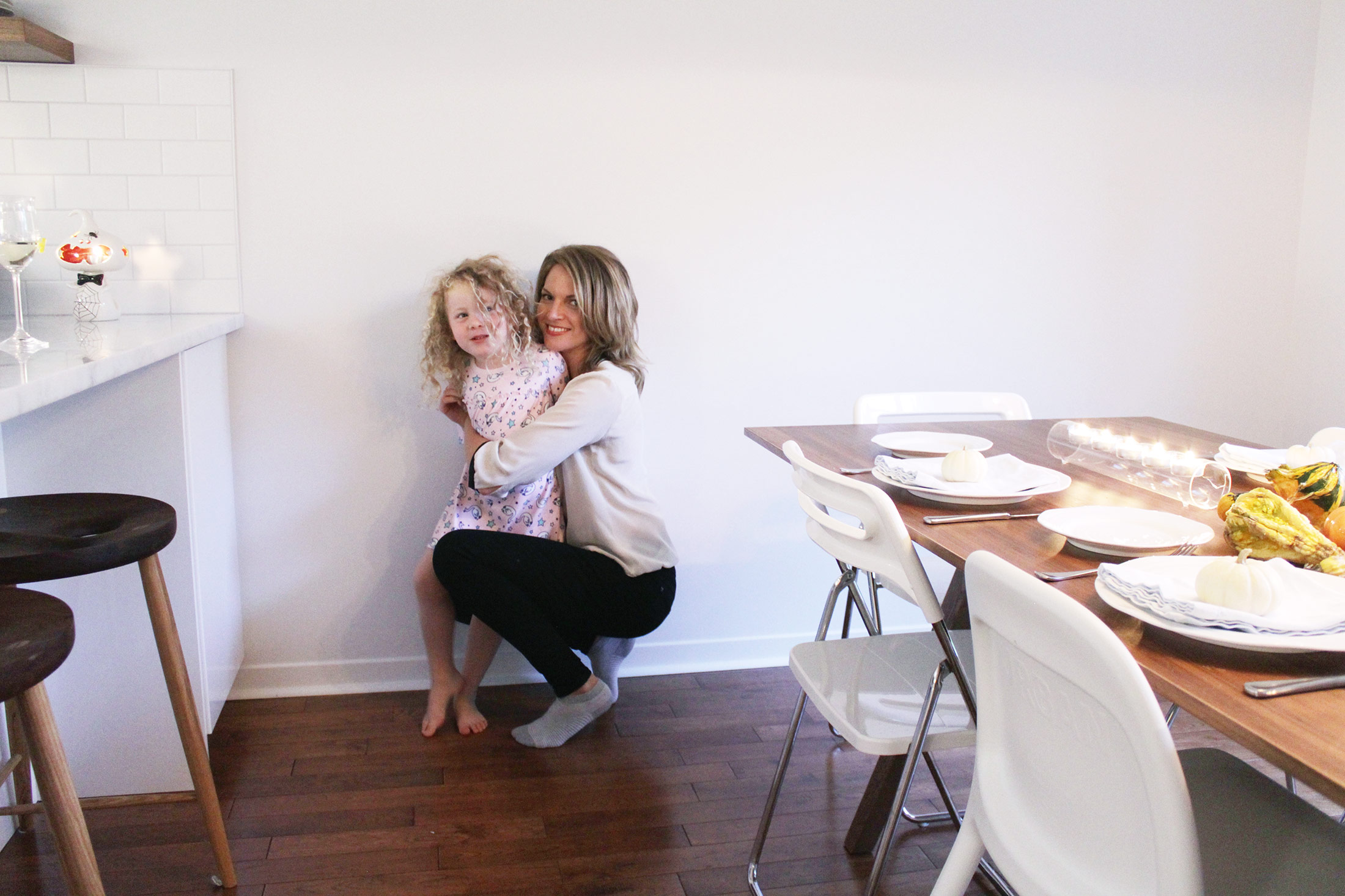 Ashley and one of her daughters at Thanksgiving. In Canada this holiday was last weekend in case you are confused.