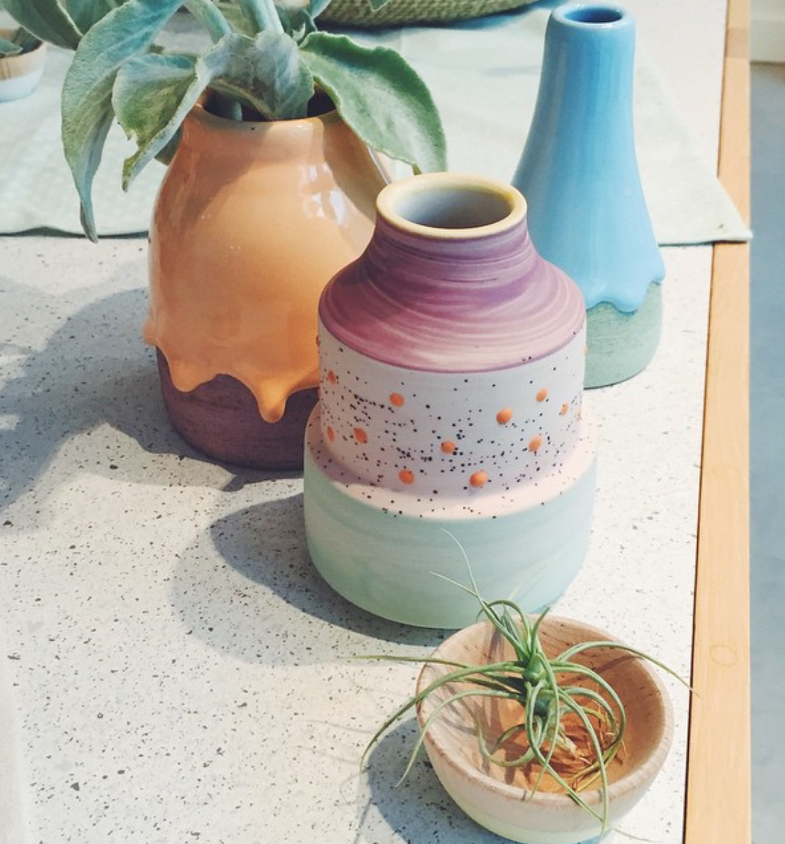 Hand made pottery...yes please!