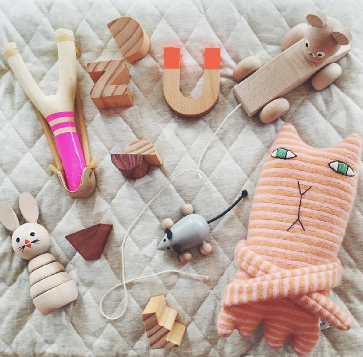 When my daughters were small my favourite toys were the wooden ones. You can easily see why.