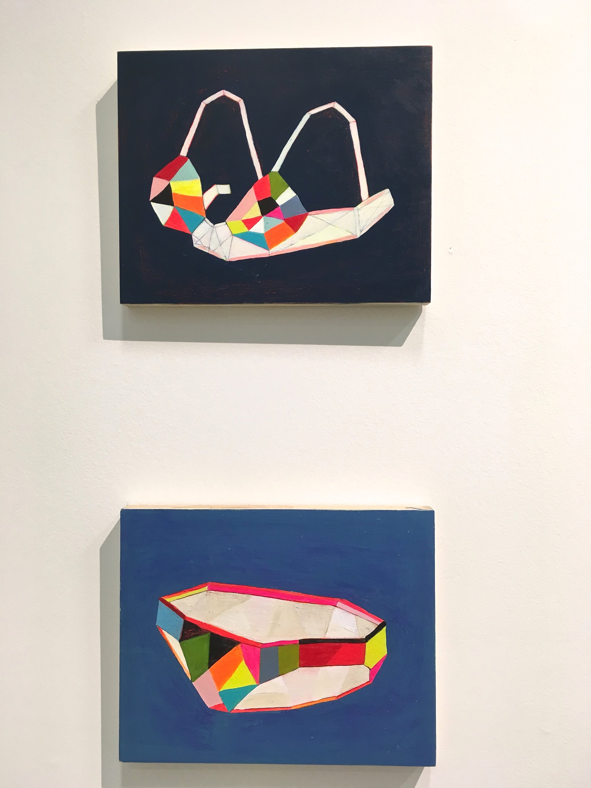 I wish I could have added these geometric beauties by Martha Rich to our art collection at home. The graphic pops of colour are so delightful.