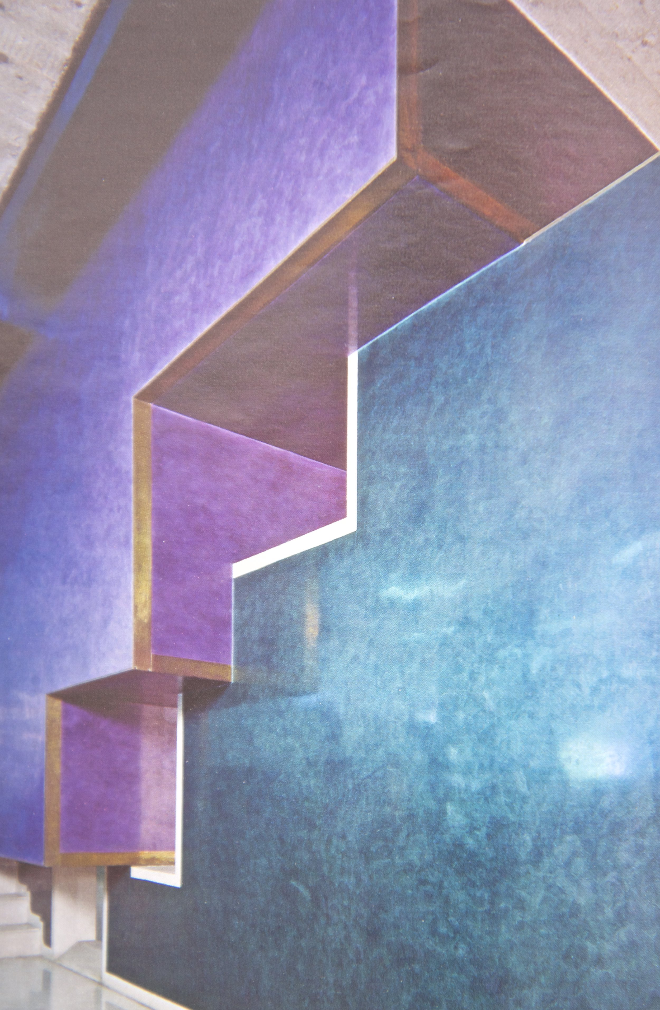 I like the colours and geometric forms here. It's like Kelly Wearstler designed a boutique hotel circa 1985.