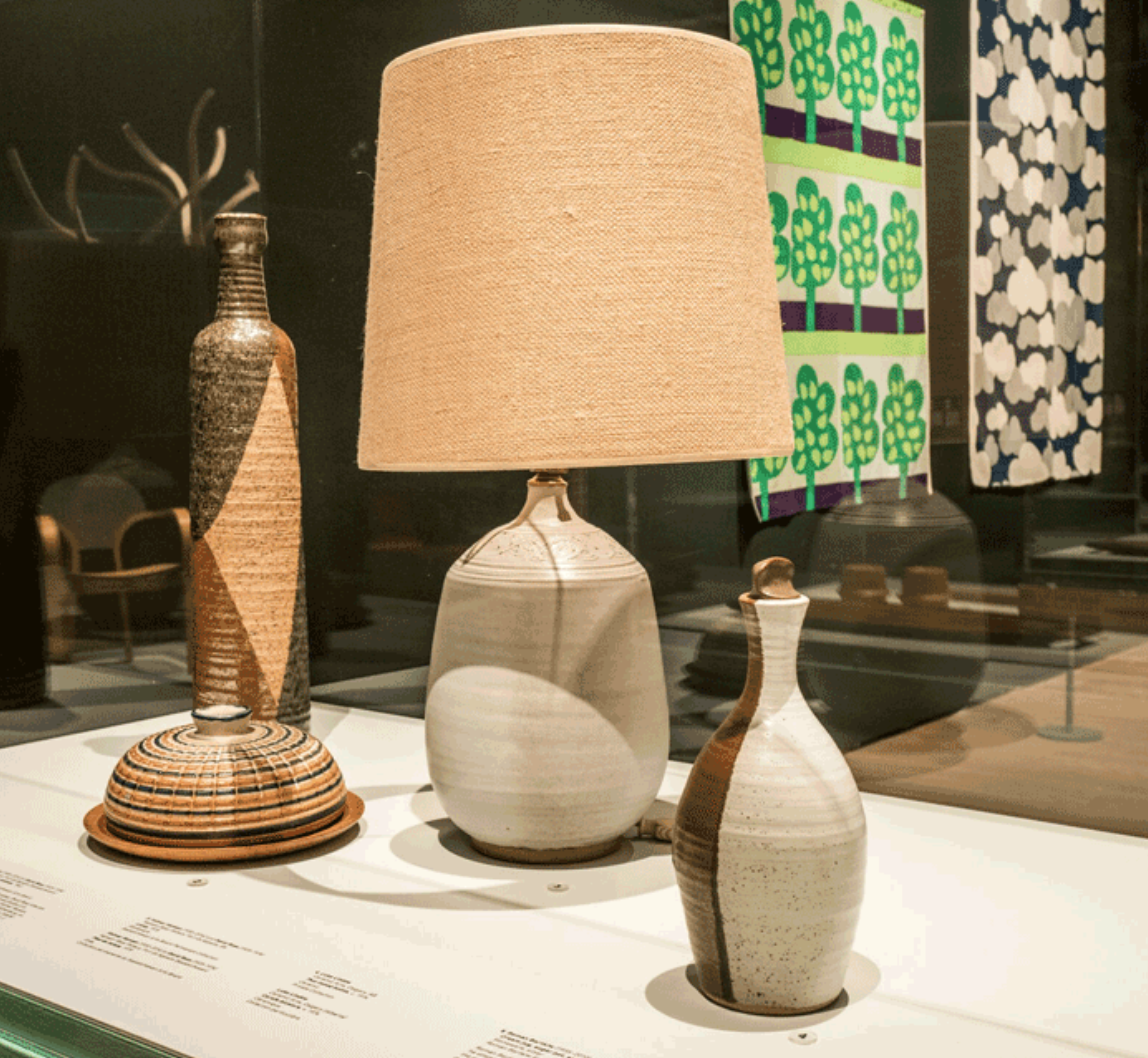 Graphic pottery in neutral shades...yes please! In another area they had a great selection of Lotte lamps, the shades alone are works of art in my opinion.