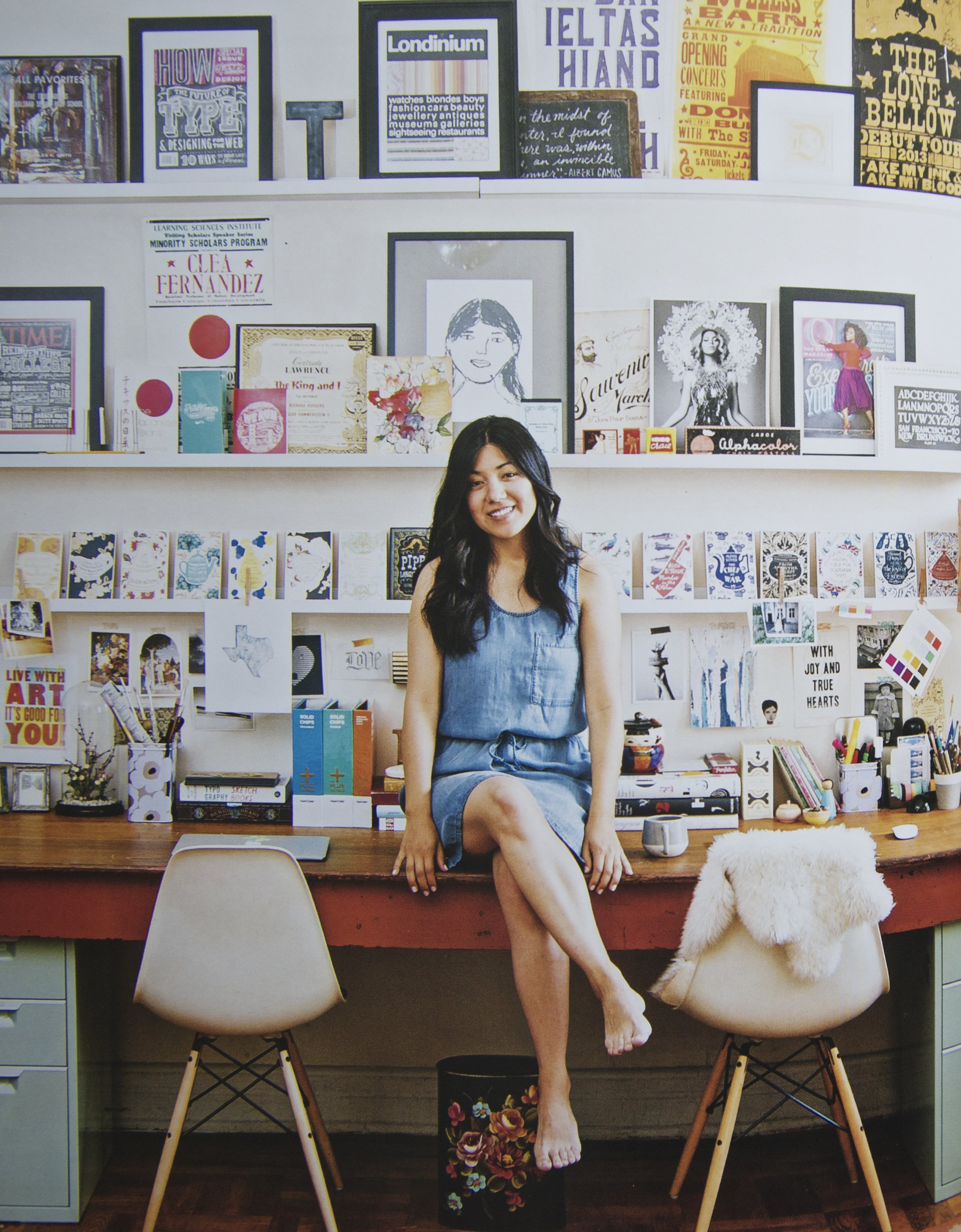 How incredible is the work space of Dana Tanamachi! Loved her interview on page 203.