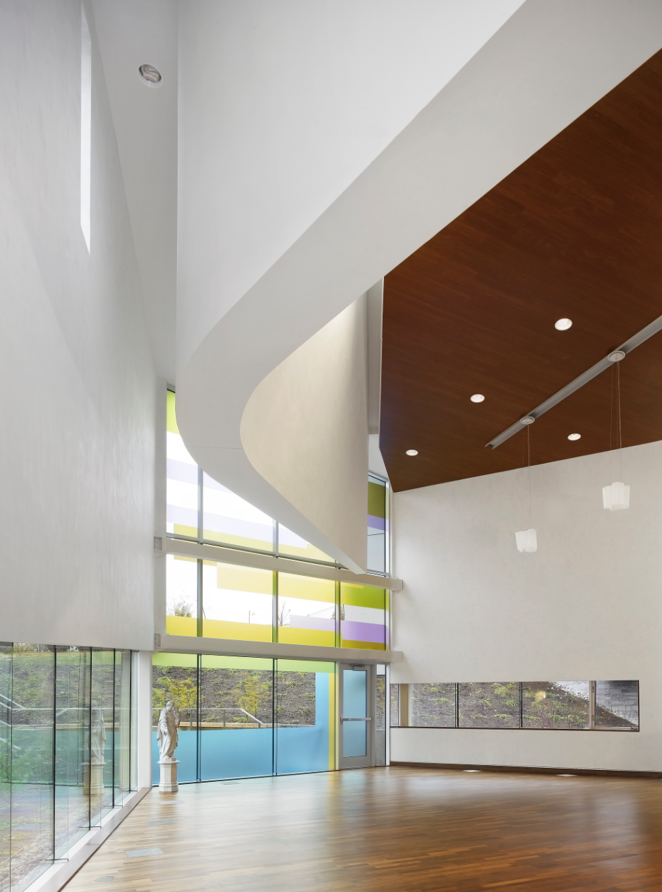 This room is now the chapel. Photo is by Teeple Architects.