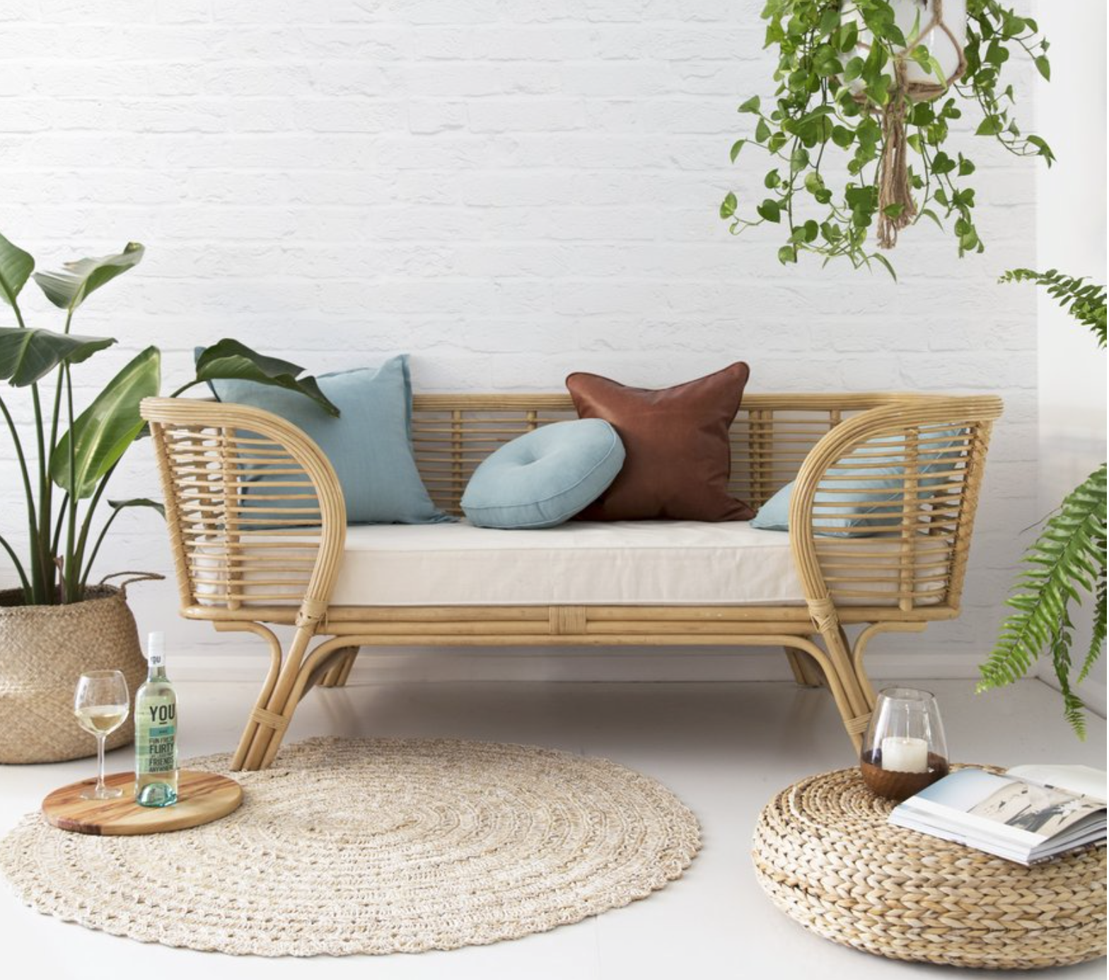 The Lounger Daybed in natural.