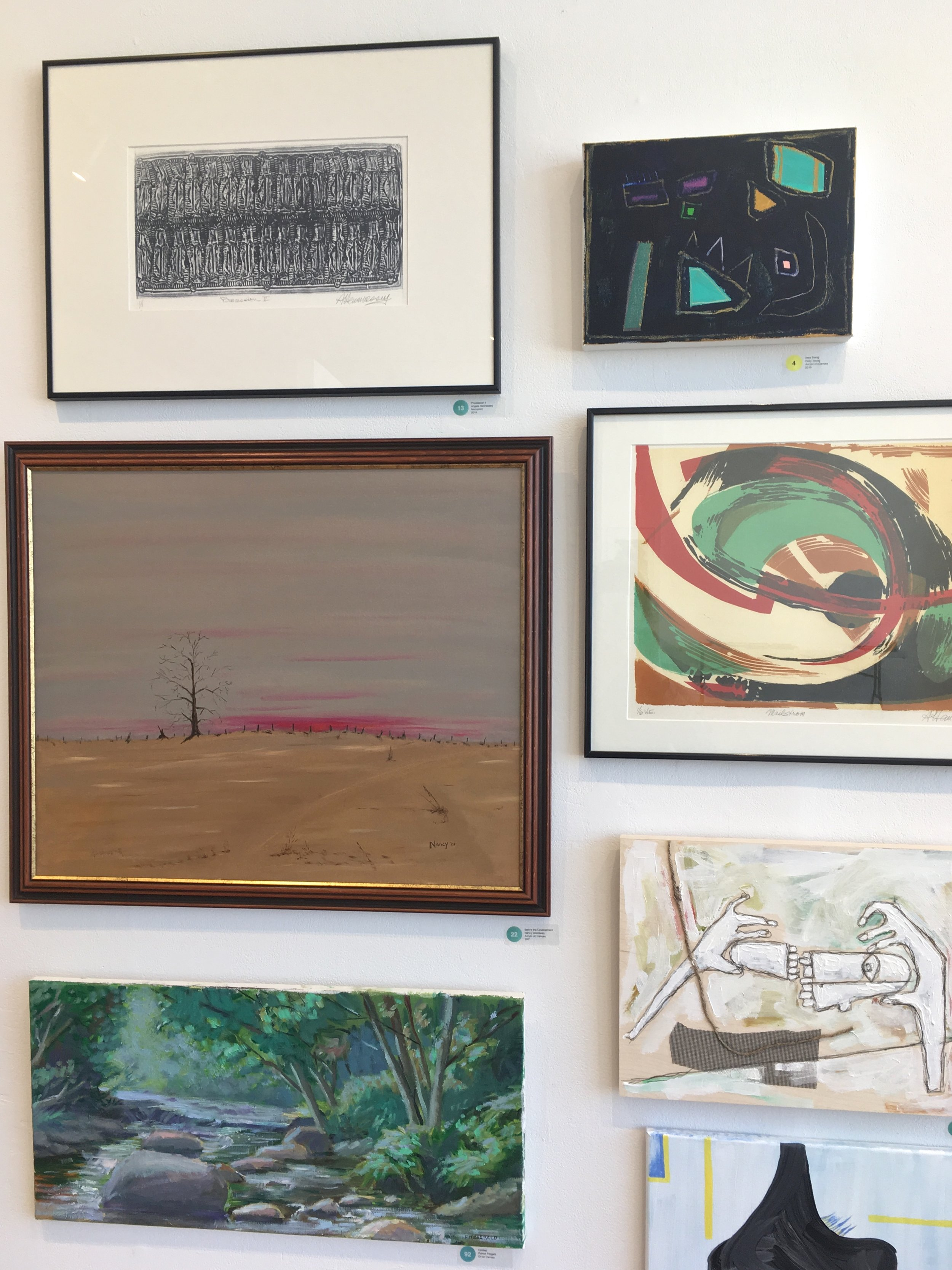 One of my painting's on the top right.