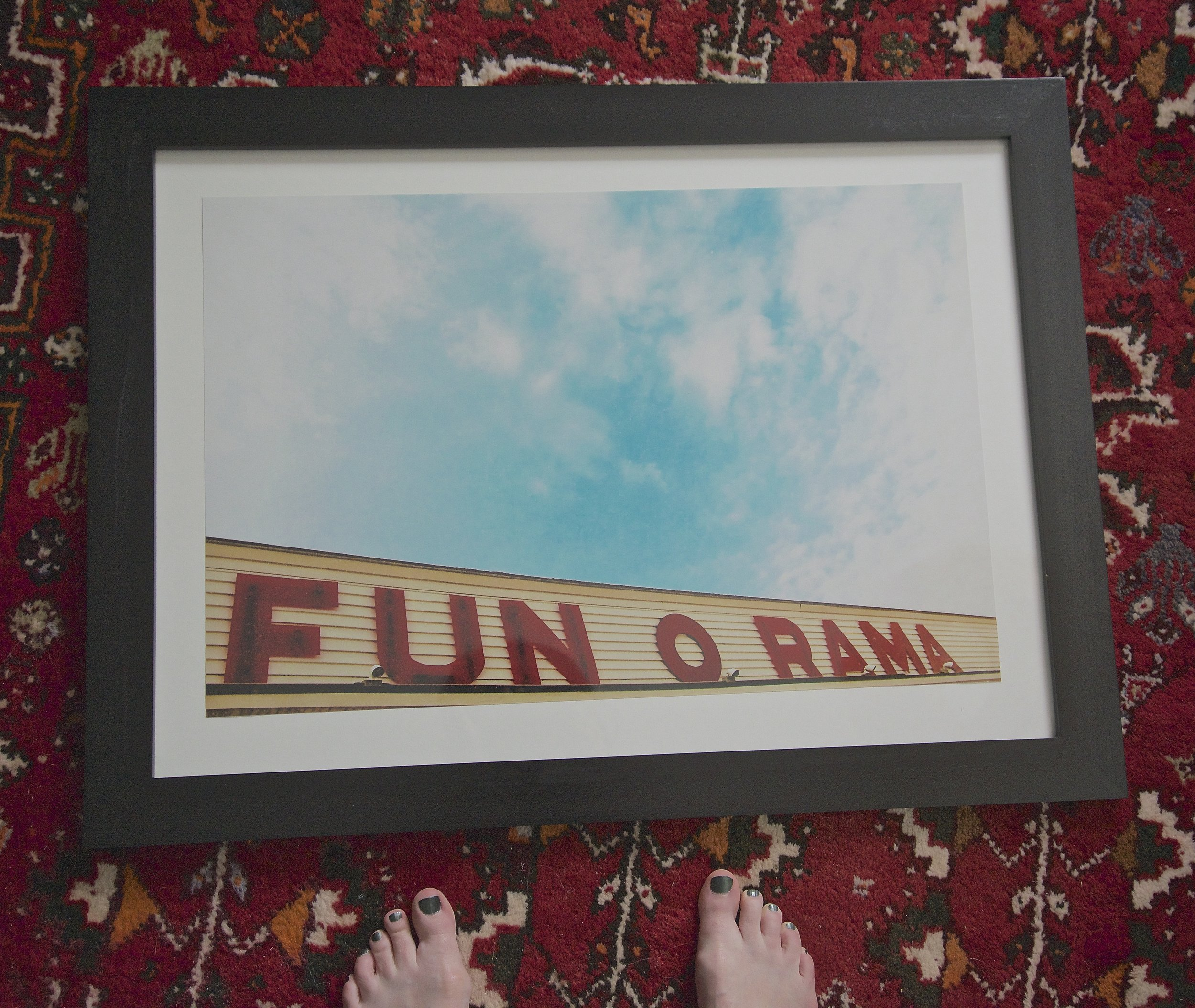 This is the largest print I received from Meg. I popped it in the frame as soon as I opened it up.