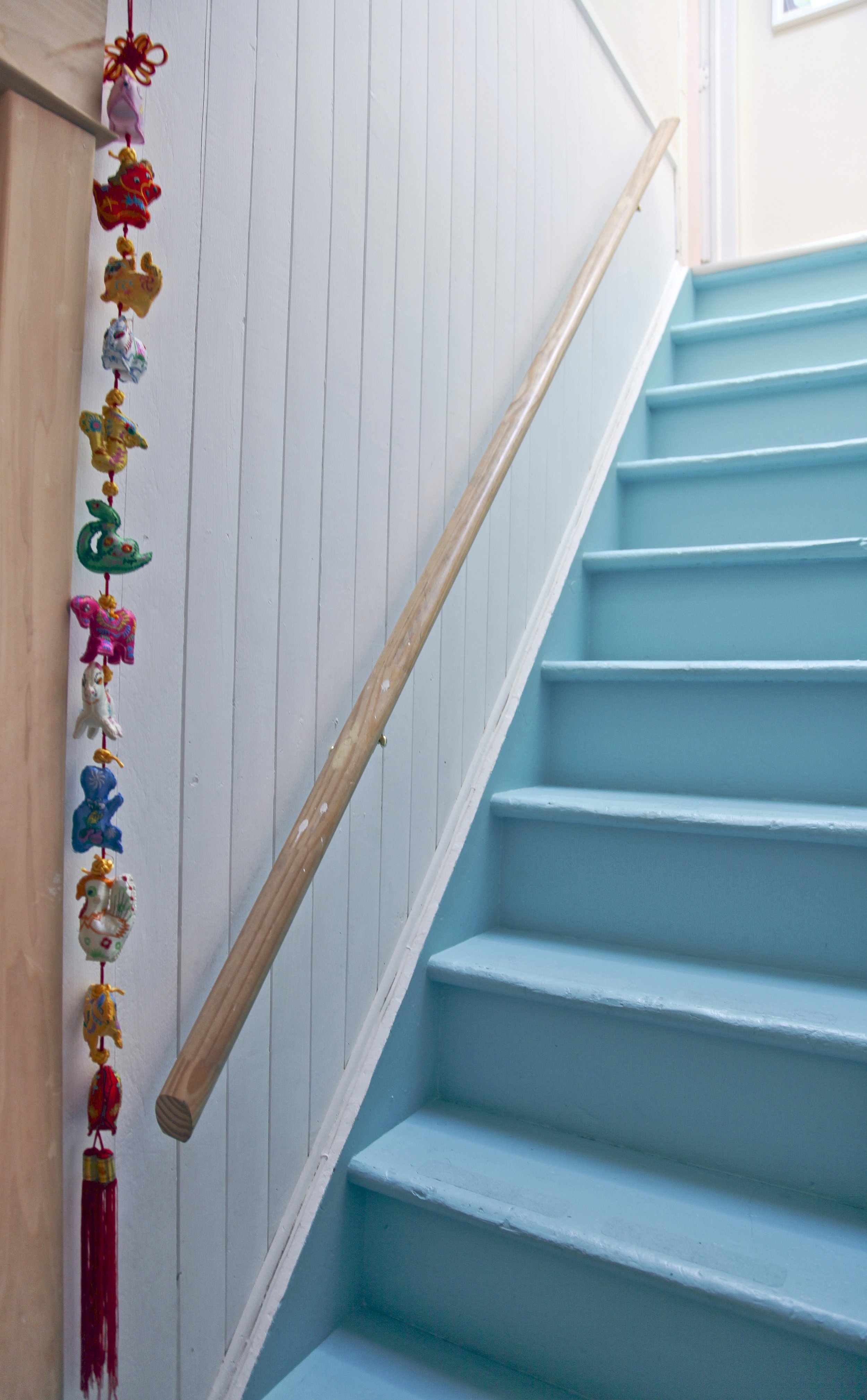 My favourite colour is turquoise...how great are these painted stairs!