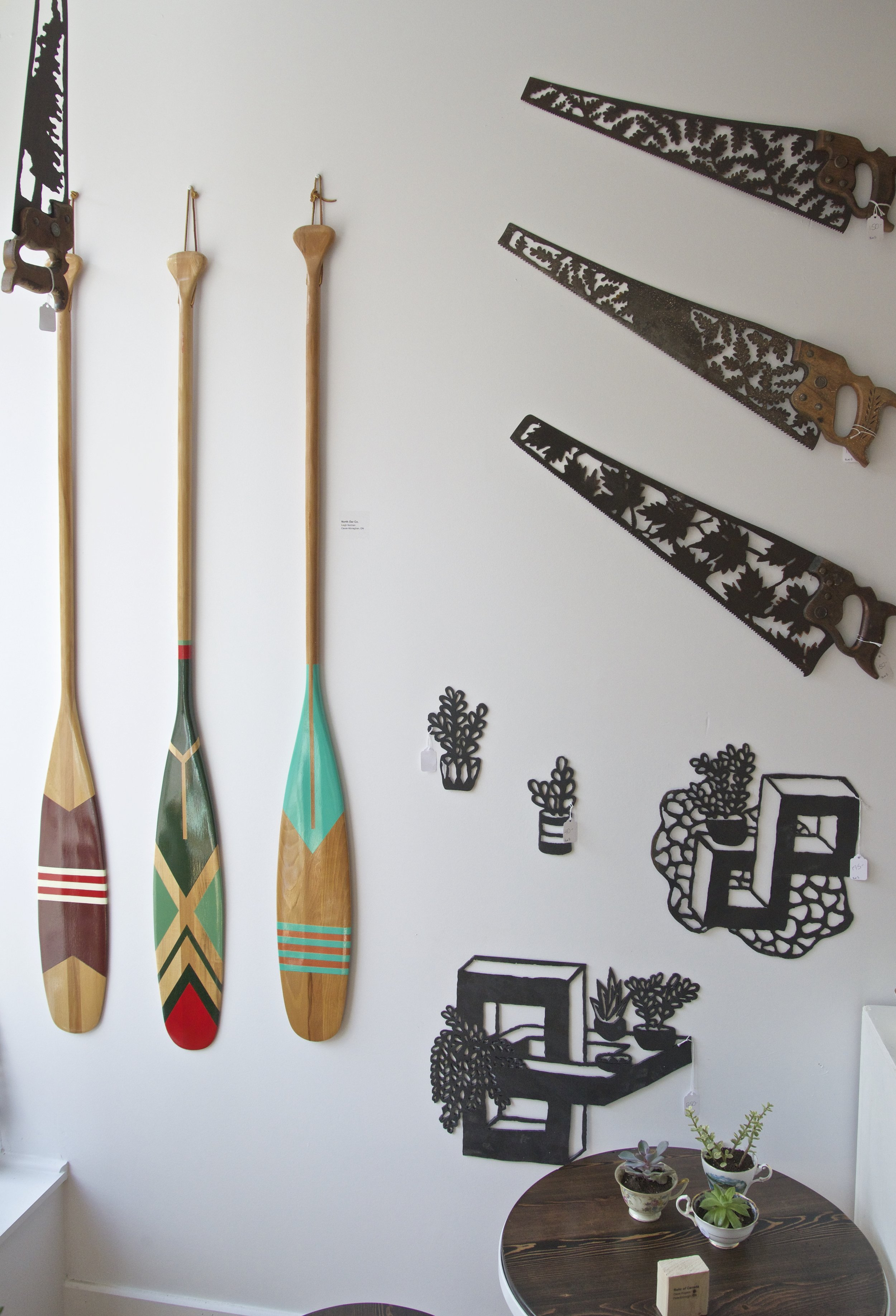A selection of pieces from  North Oar co.  &  Burn Island .