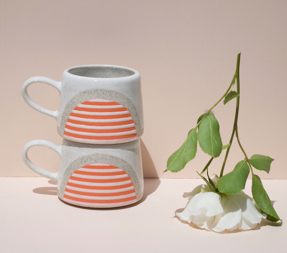 I love these playful ceramics by Sam Knopp. They have a mid-century vibe that is totally my style.