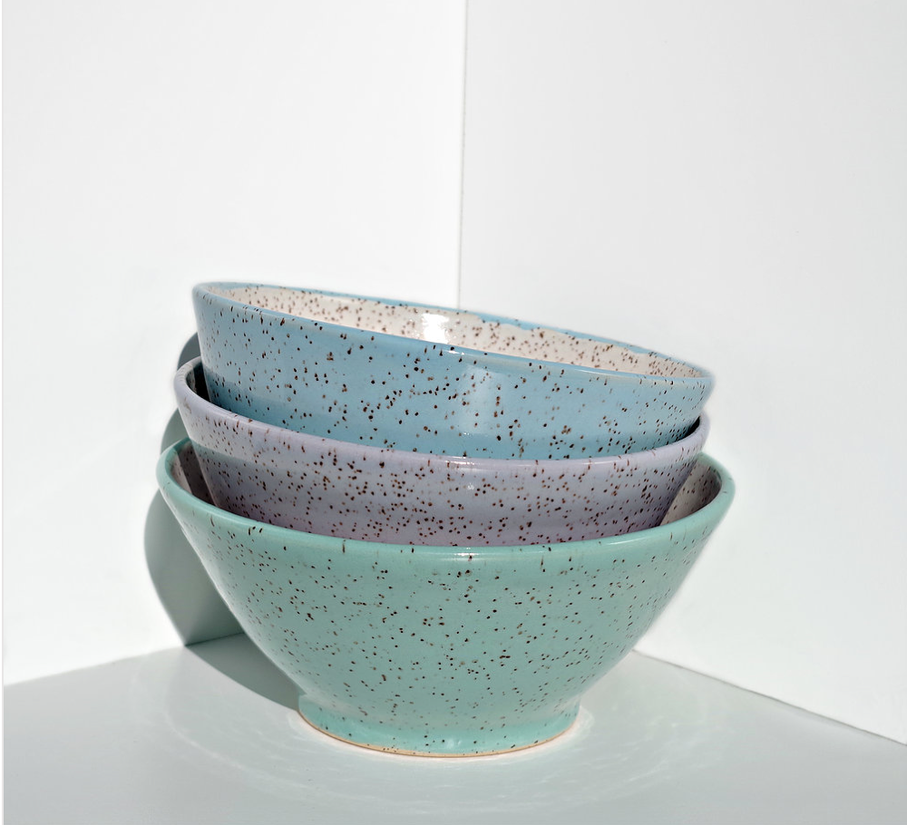 I can imagine myself using these gorgeous speckled bowls by LUPA ceramics every day. I eat a lot of cereal folks!