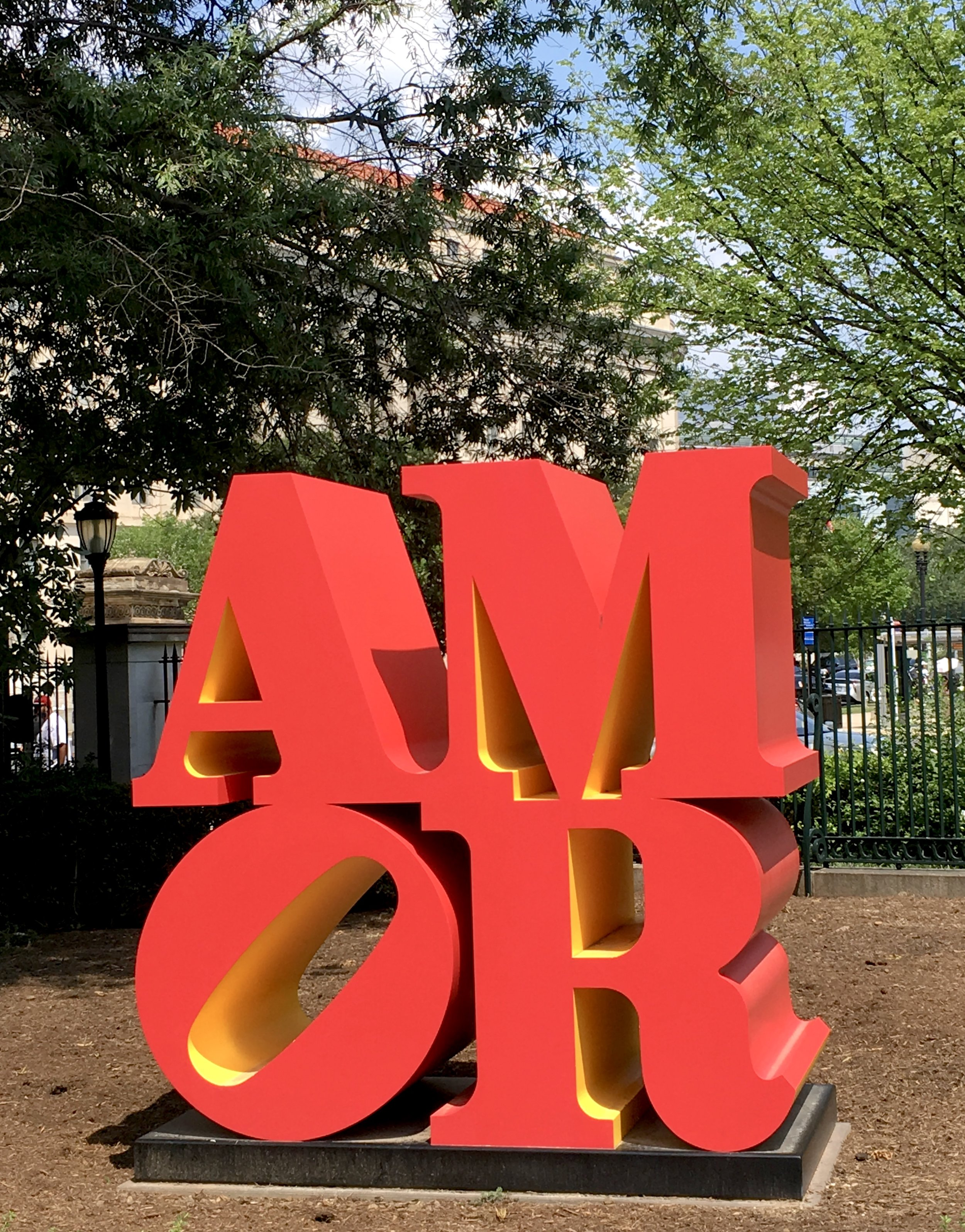 We just saw an exhibit of Robert Indiana's work in Buffalo last month. Here's another of his gorgeous pieces!