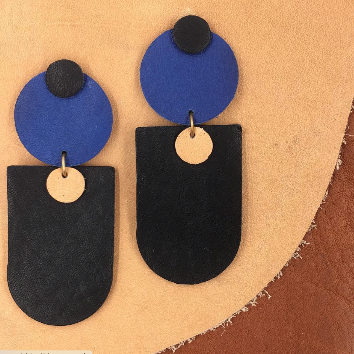 Earrings designed by Liz Esser @hadendesigns