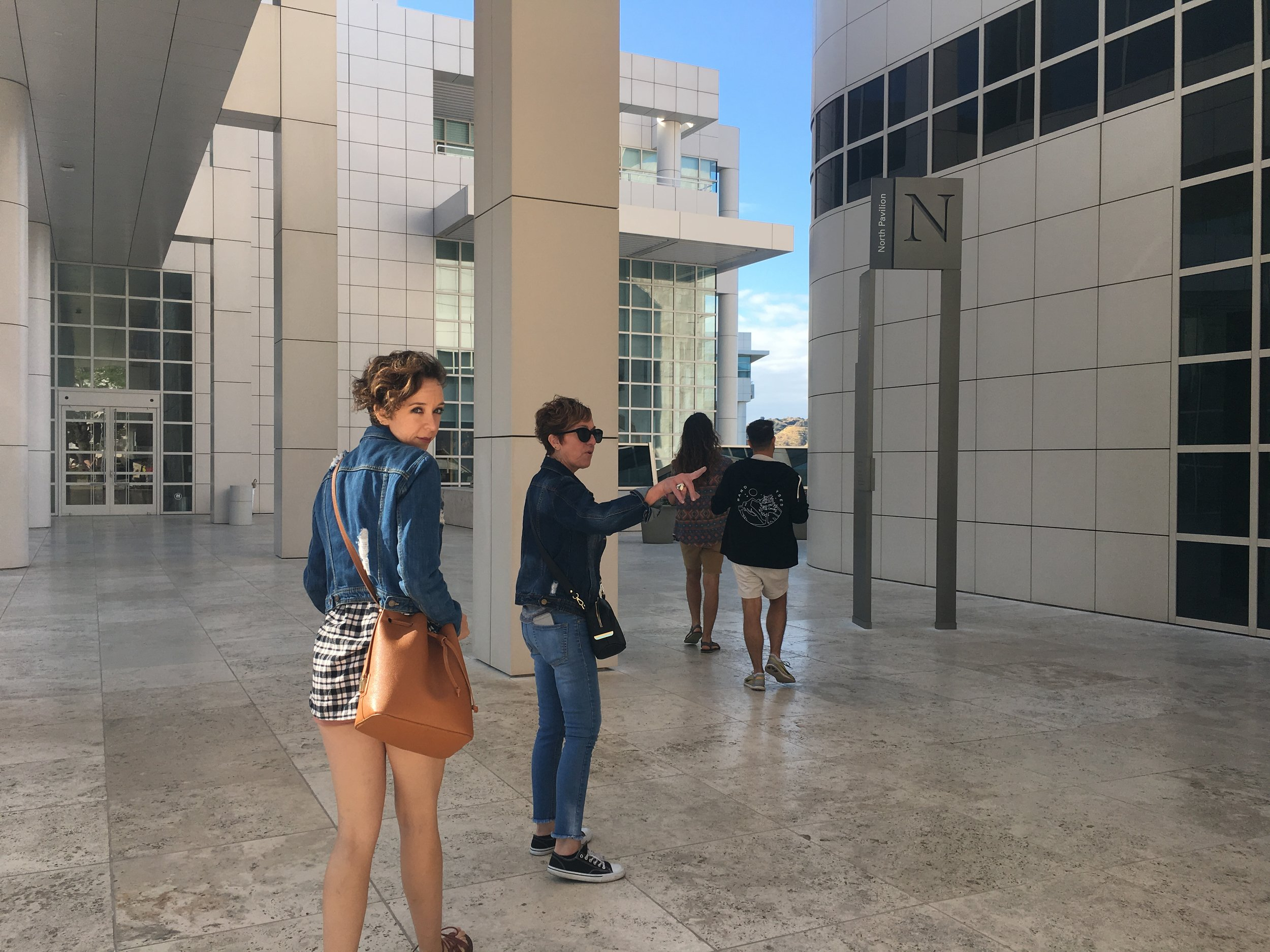 These four were the absolute best company while exploring this travertine covered building and throughout L.A.