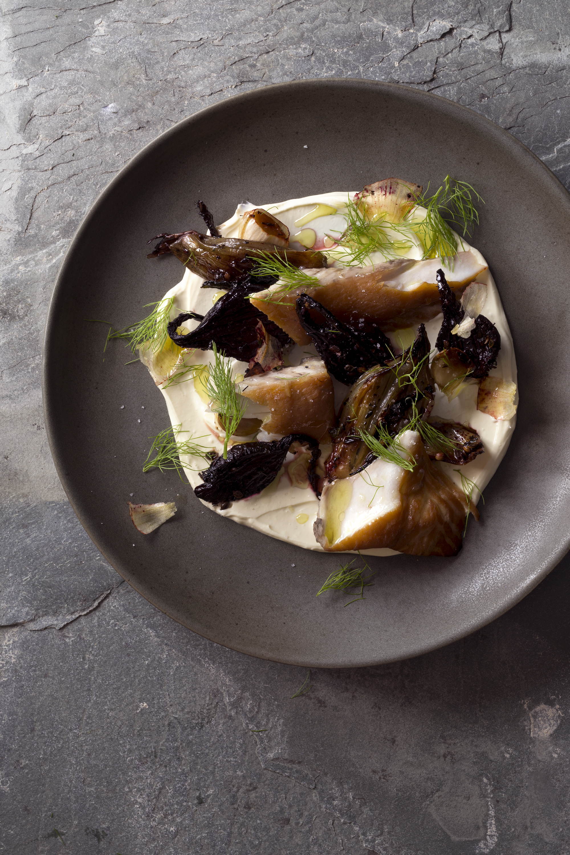 Smoked Kingfish with Creme Fraiche, Roasted Beets, Shallot and Fennel_MG_8461.jpg