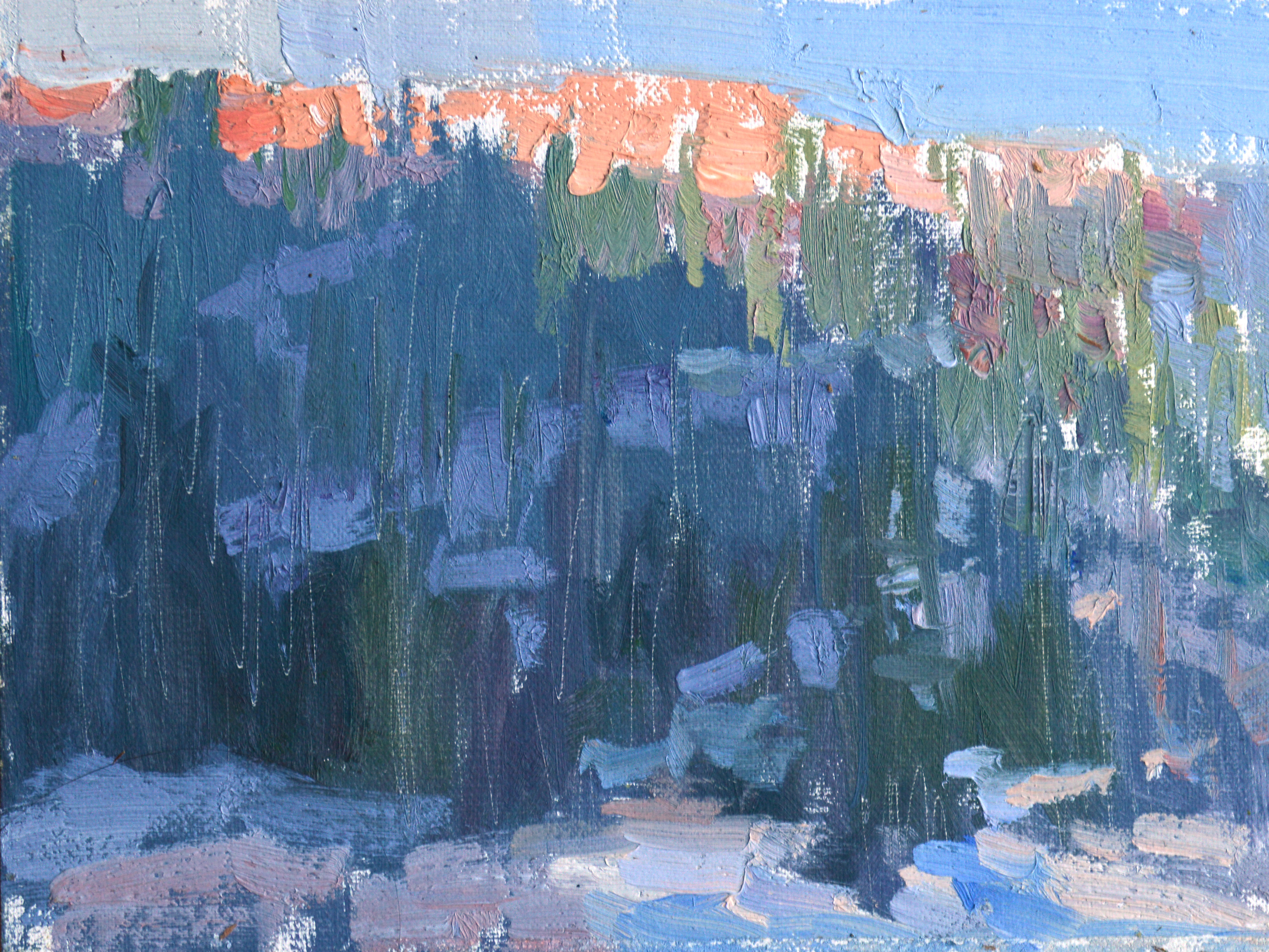 Sierra Sunset, 6x8, oil on linen, $1400. Available through  CAC .