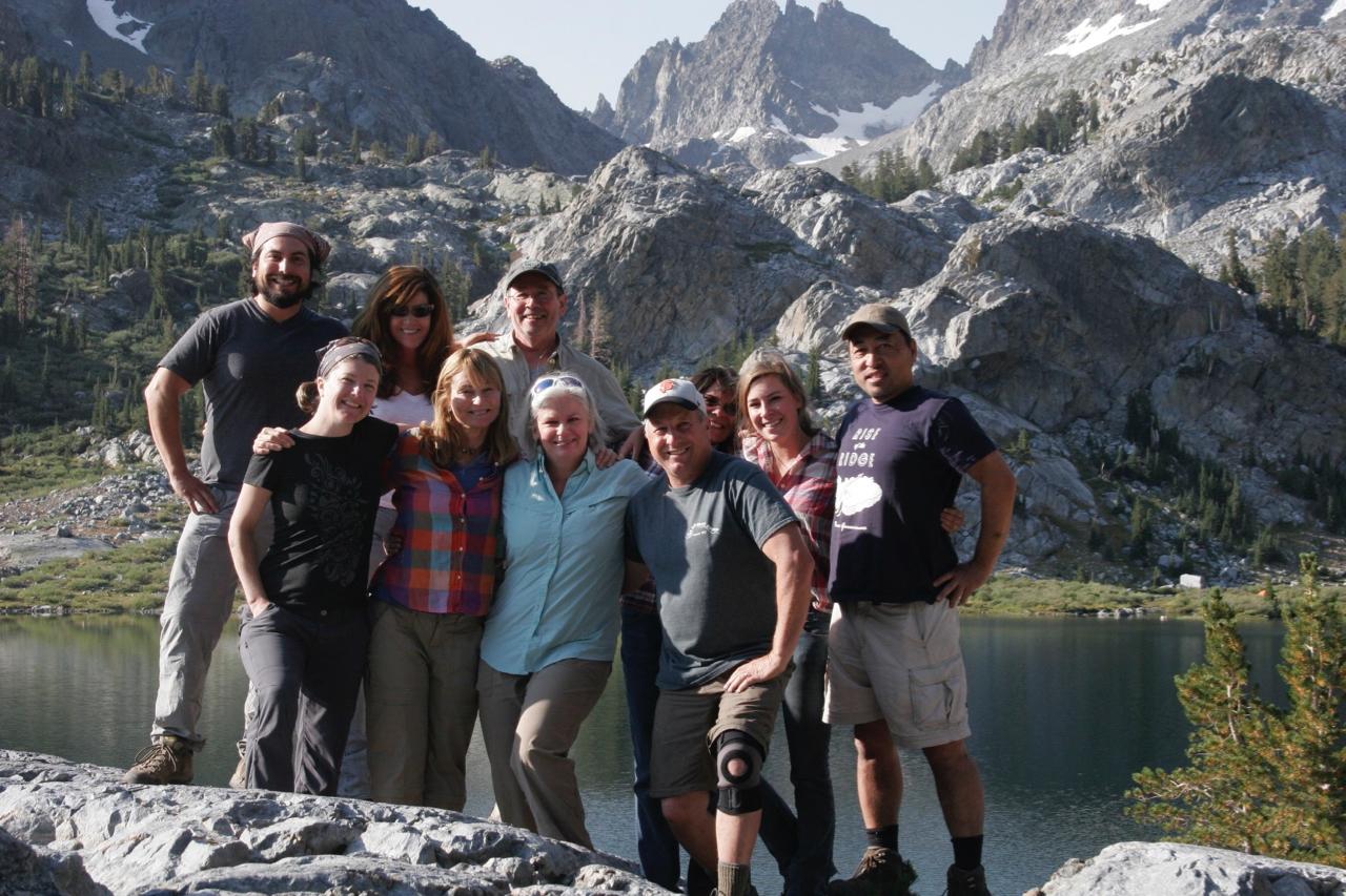 L-R: Ernesto, Carol, Kim, Michele, Bill, me, Paul, Camp cook Karen, Karen's daughter Emily, Terry.