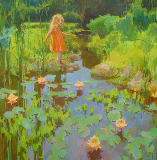 """Balance 48x48"""" oil on canvas"""
