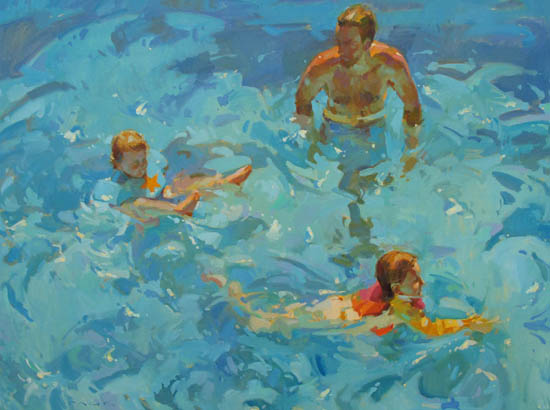 """Waterplay 36x48"""" oil on canvas"""