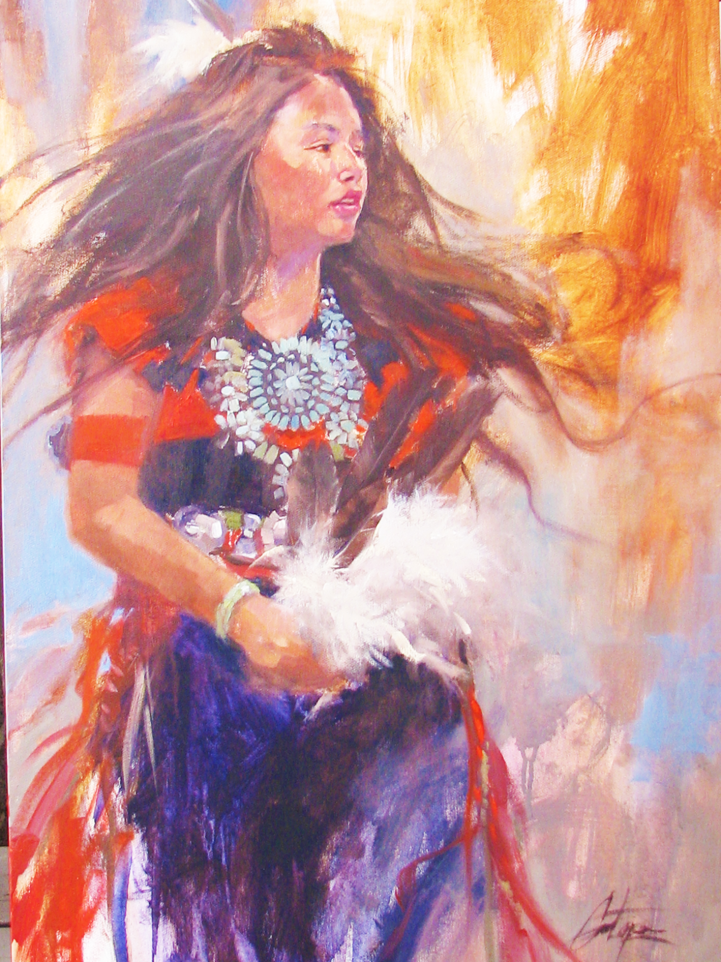 """""""Young Navajo Dancer,"""" by Gretchen Lopez"""