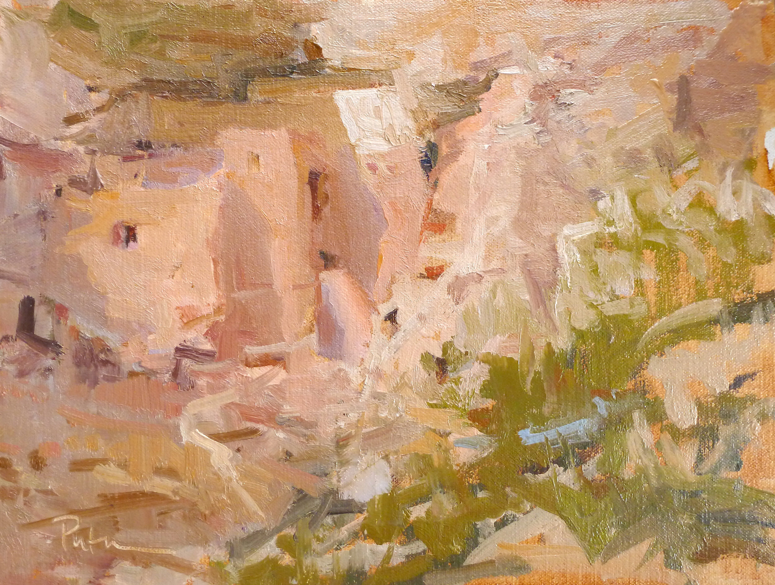 """""""Montezuma Slept Here,"""" by Lori Putnam, oil, 14 x 18 in. Private collection"""