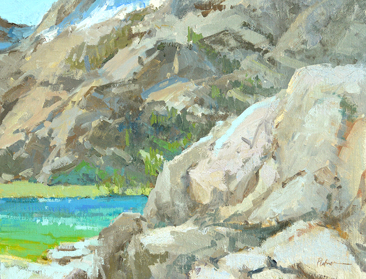Rockin' a Hard Place, plein air