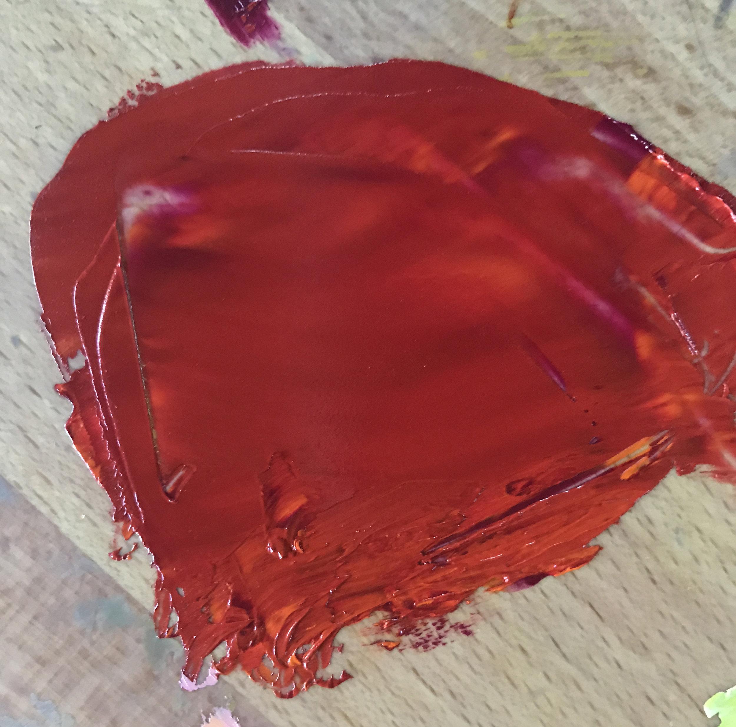 Quinacridone Magenta and Cadmium Orange (red)