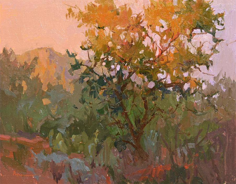 Treescape, 16x20, oil on linen, $2800. Available through Putnam Studio