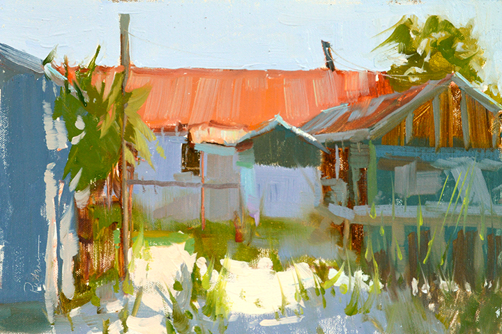 Seafood Shack, 8x12, $2200. Available through  LeQuire Gallery .