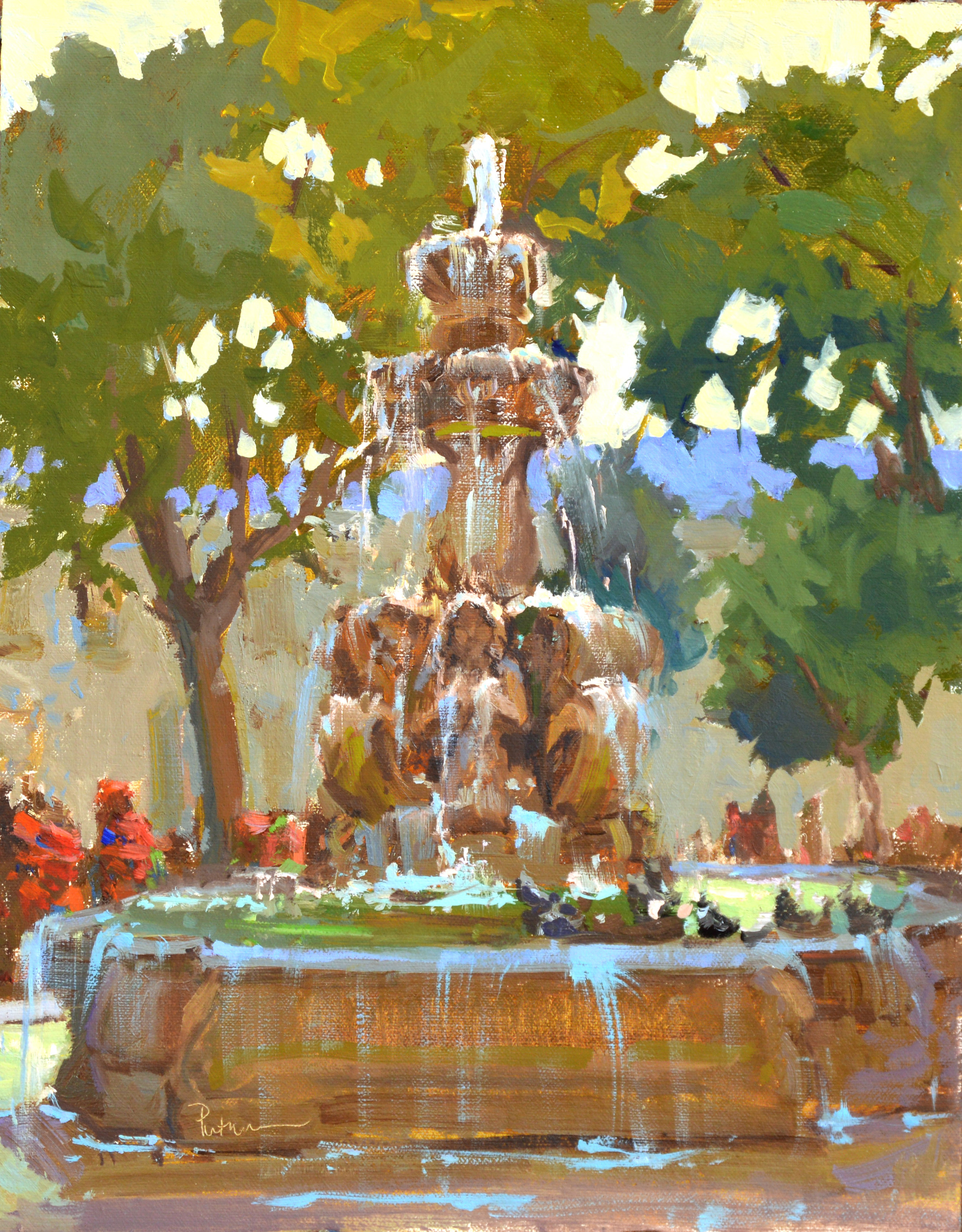 Art Ambassador Board MemberArt Ambassador for a Colorful World,Fall/Winter Newsletter 2018 - Fountain in Quetzeltenango, 14x11
