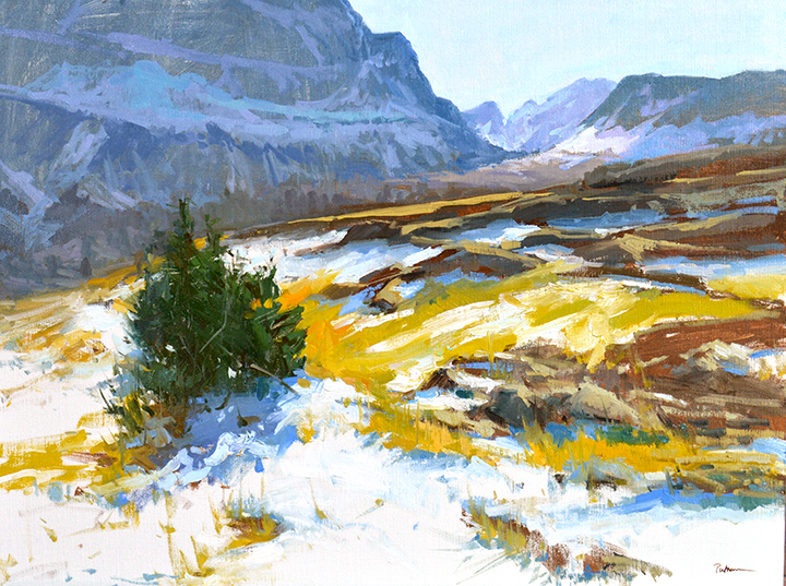 Fall at Logan Pass, 24x32, $8500