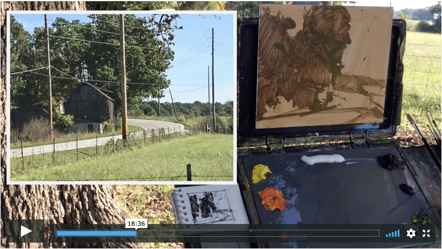 Demonstration: Plein air Light and Shadow Painting Video - Rent for $14.99 / Download for $49.99This is a complete demonstration painting light and shadow en plein air.