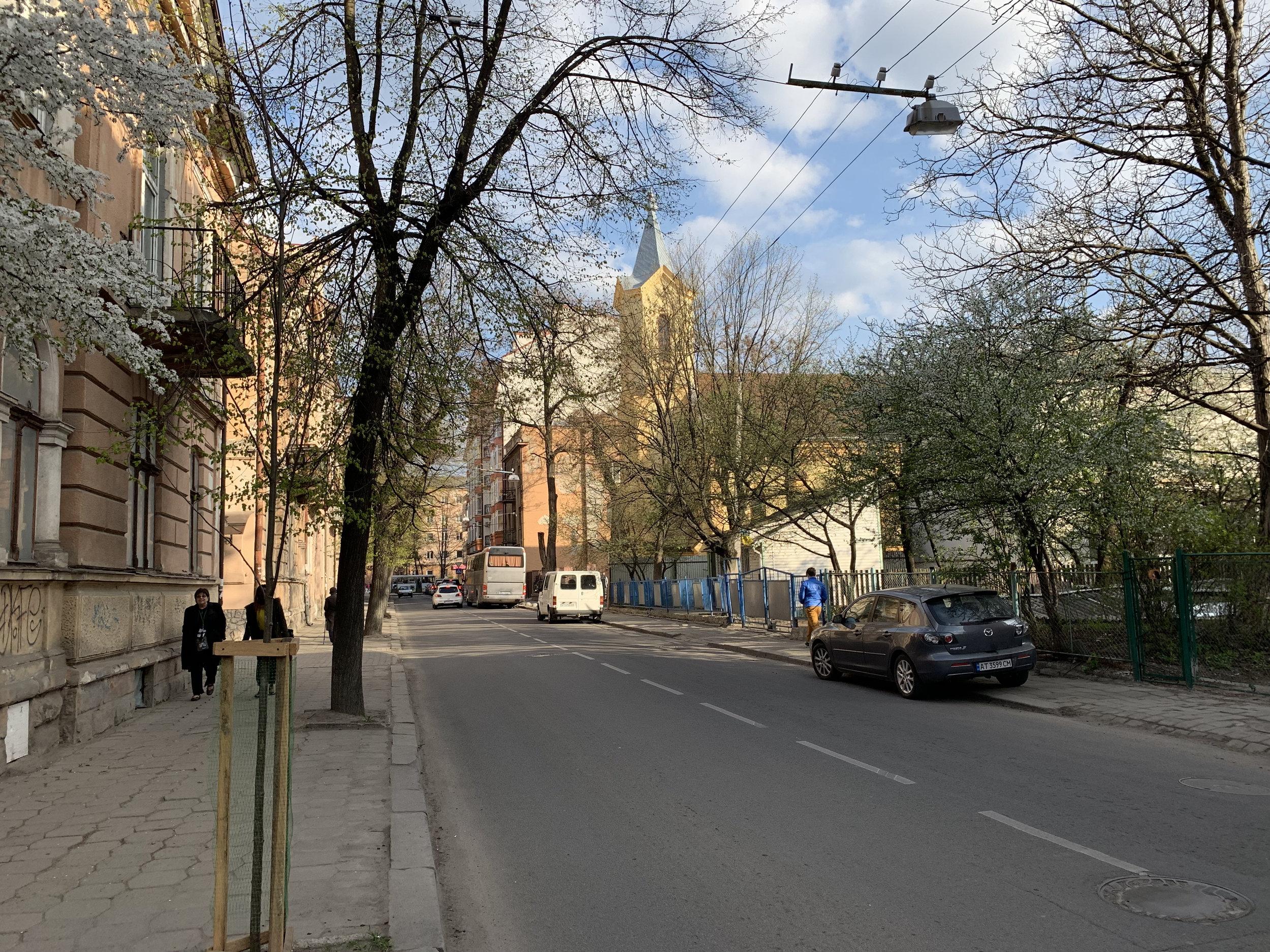 The beautiful city of Ivano-Frankisvk.