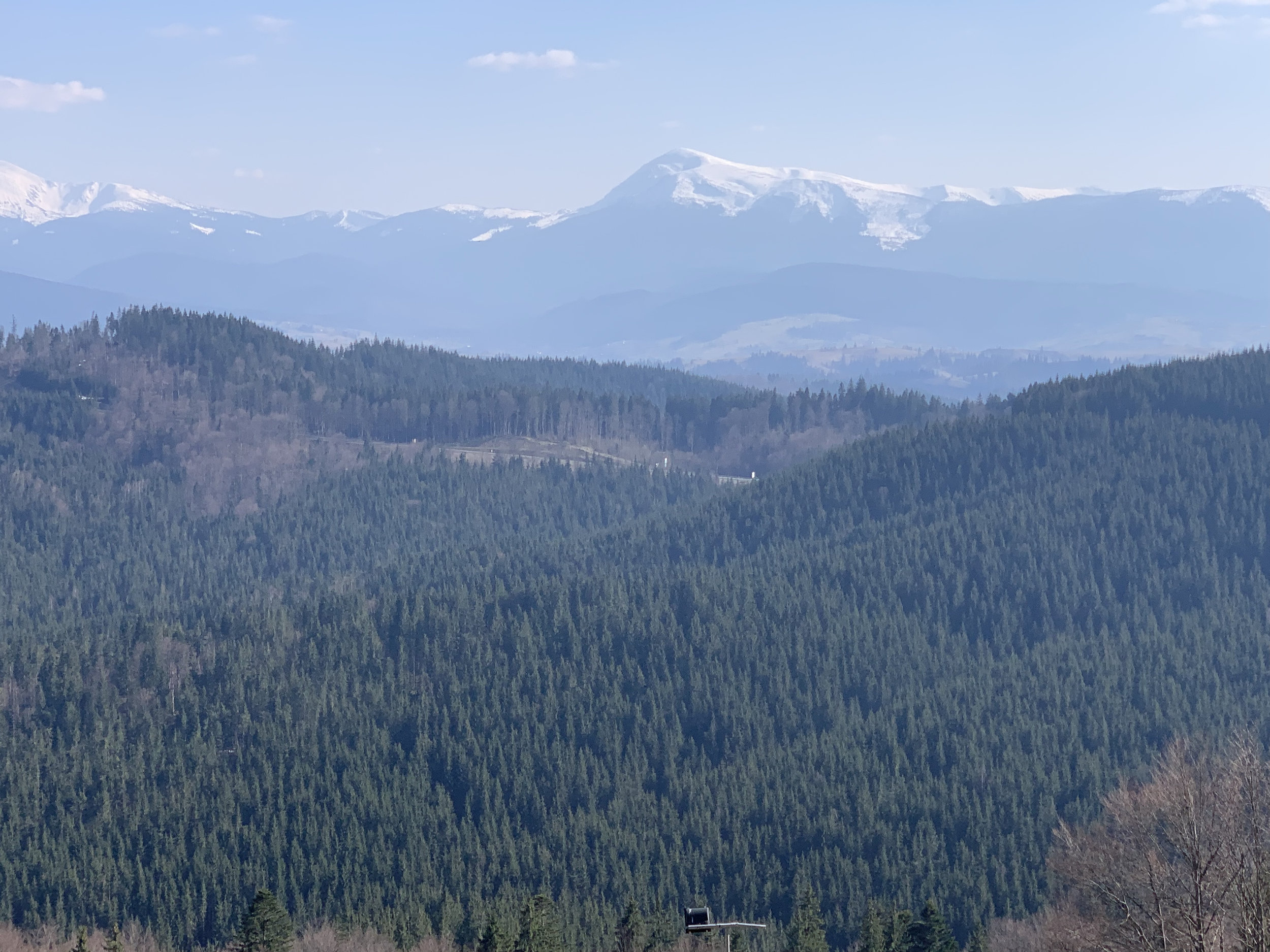 Carpathians in spring.