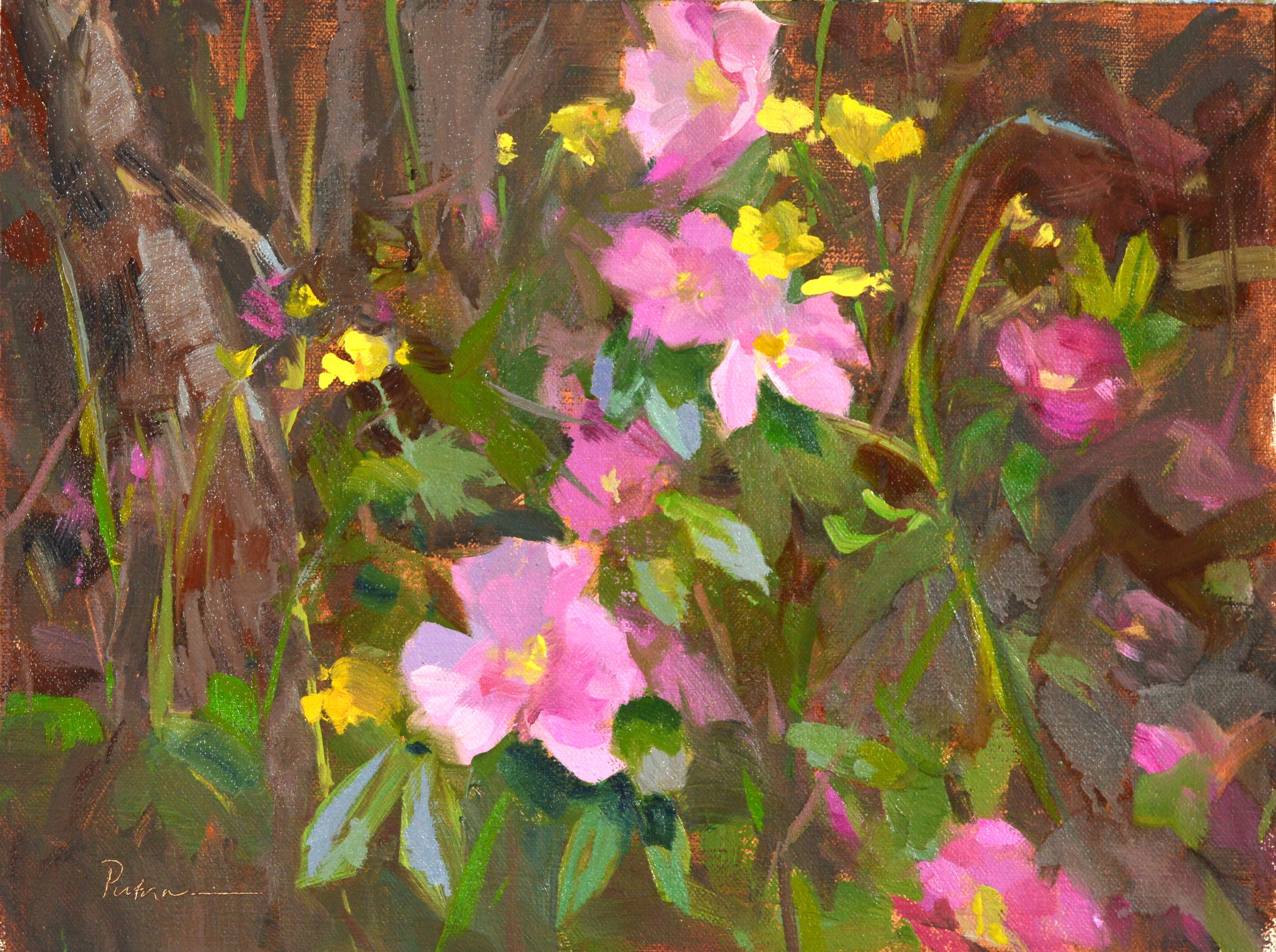 Ways to Use Rhythms in Landscape Painting - Outdoor Painter,March 2019Wild Rose Country, 9x12