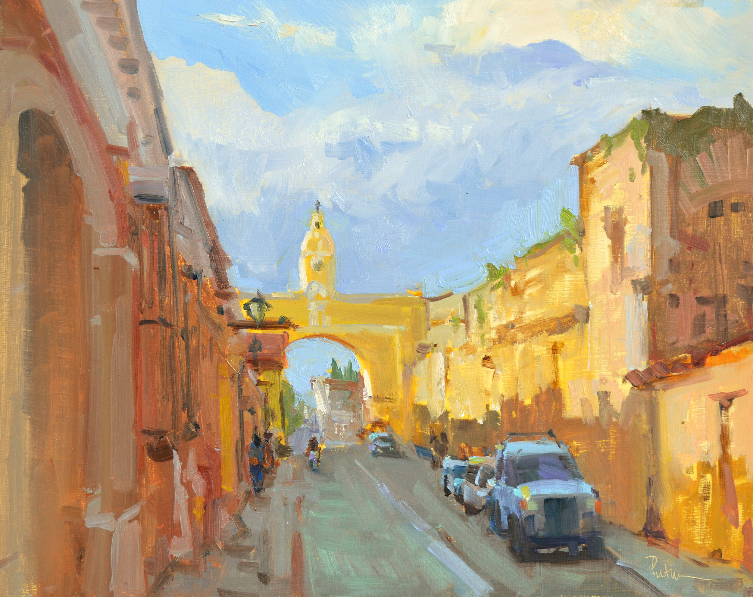 Arch of Antigua, 11x14. oil on linen. $2899; Available.
