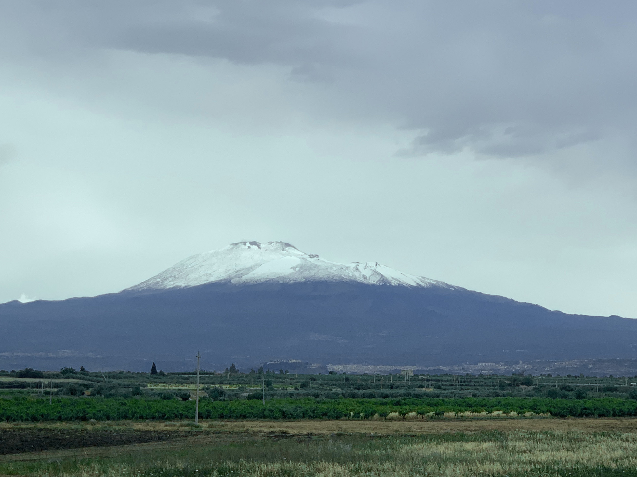 Mount Etna a few days before its eruption.