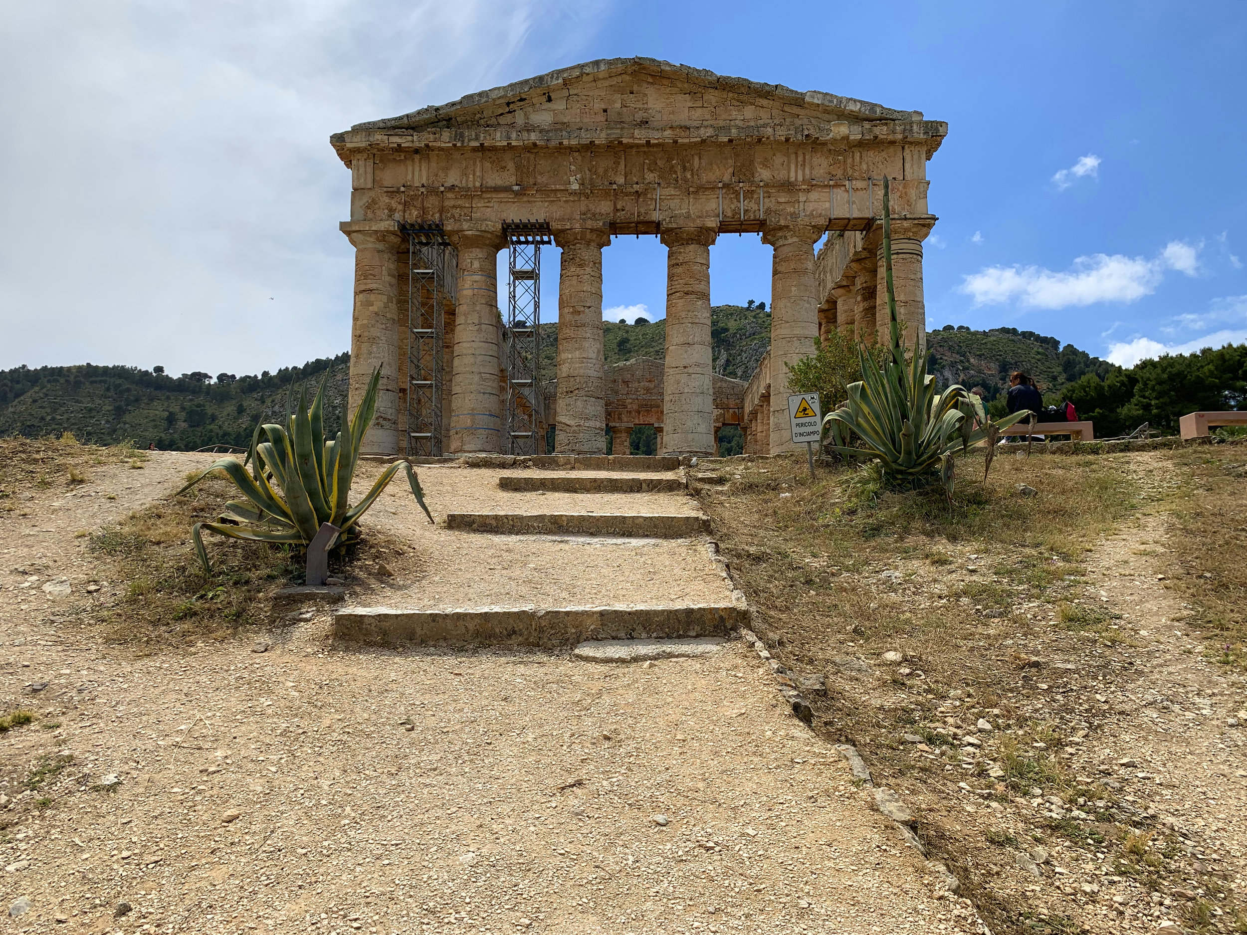 No trip is complete without painting one of the Greek ruins. The Doric temple of  Segesta .