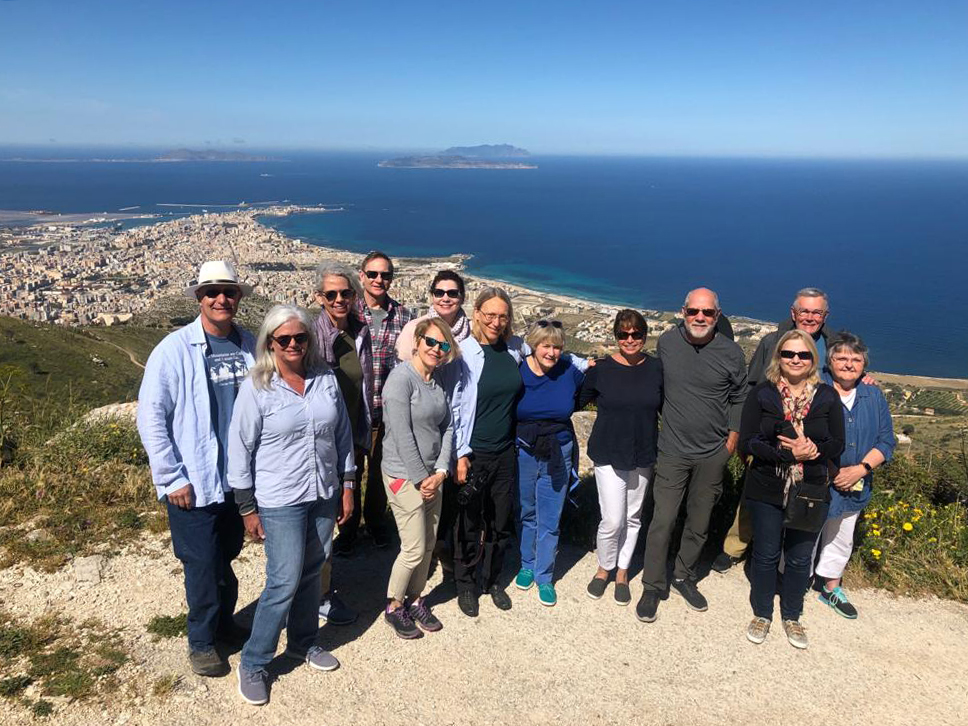 Half way up the mountain on our way to Erice.