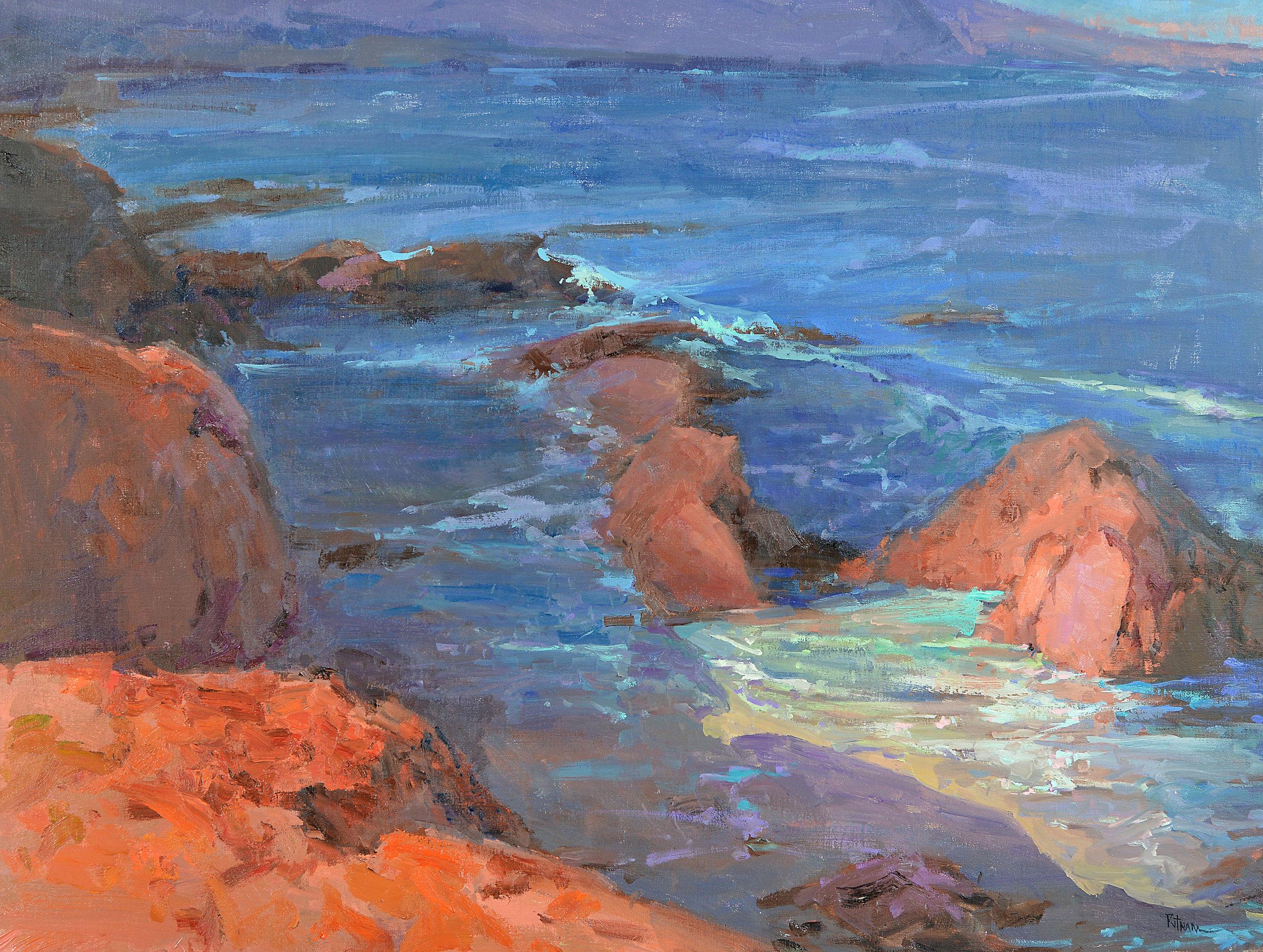 Harmony Headlands, 36x48, oil on linen. $16,000 . Available