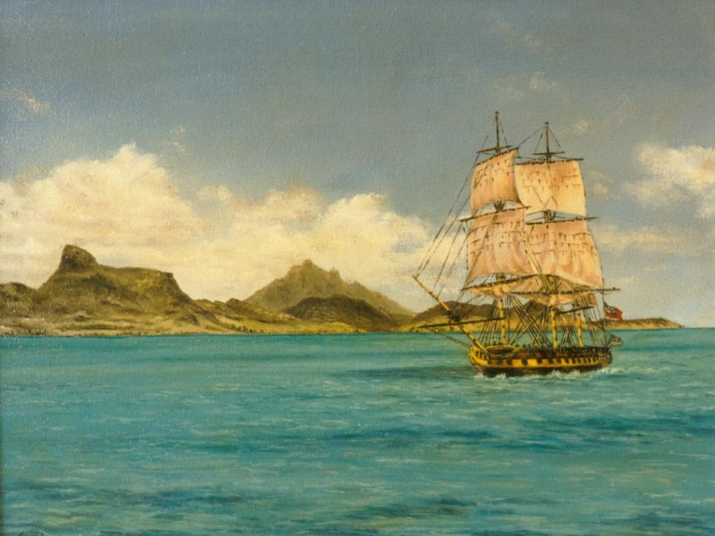 British Sloop of War off Pointe d'Esny
