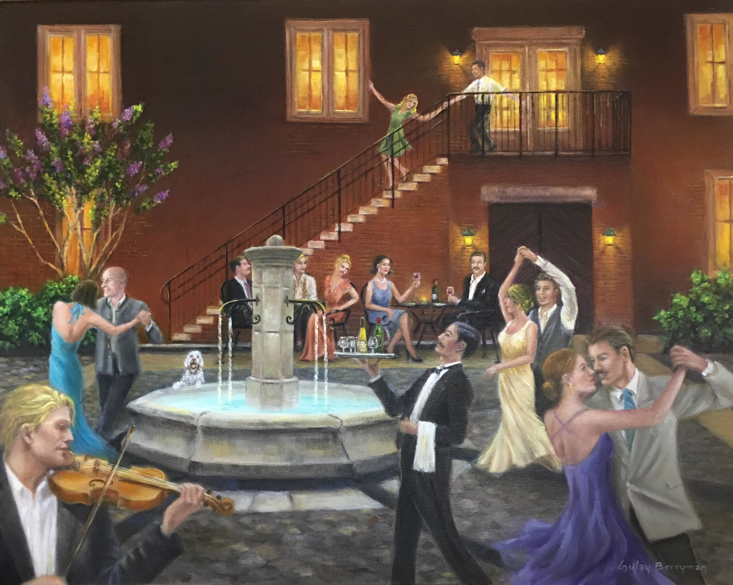 Dancing Under the Stars (Wedmore Place) | 16 x 20 in. oil on canvas by Gulay Berryman