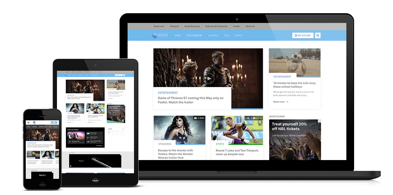Entertainment and Media - 2017   Role: UX design leadThis project was a conceptual redesign of an entertainment hub.The hub contains soft news and articles related to sports and entertainment. It works as a connector to the brand's media ecosystem.