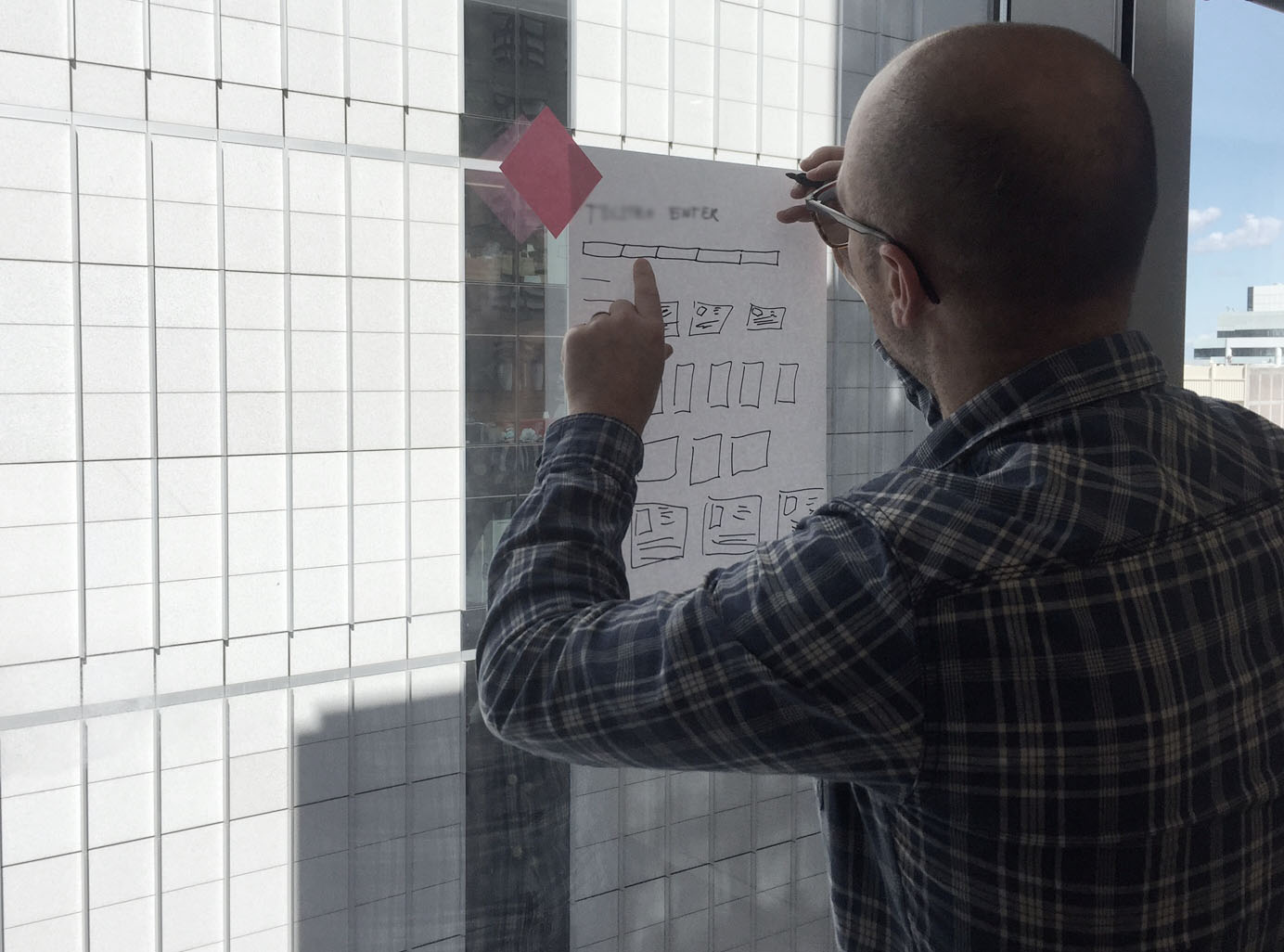 Collaborating, testing and iterating. - As a group, we did co-design sketching sessions, content brainstorming and a product thinking activity.I also ran a weekly design review to collect feedback as we progressed.
