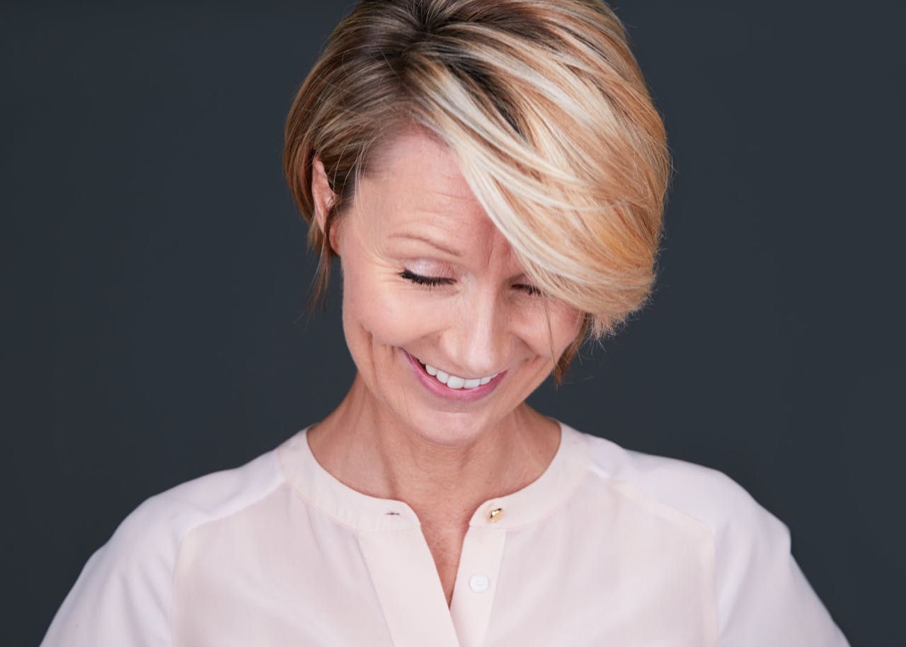 Philly Corporate Headshot Laughing Woman Photo